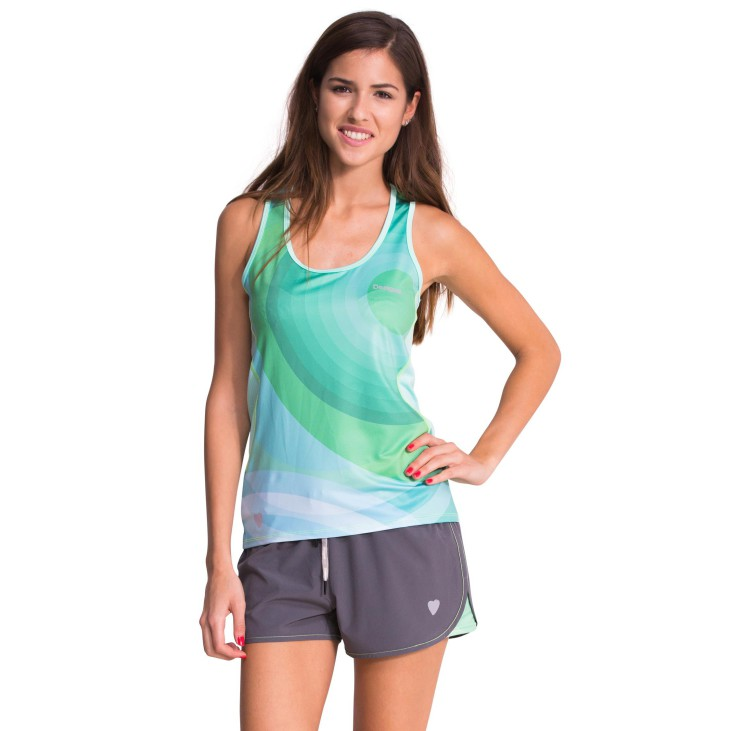 Desigual Heleia green top