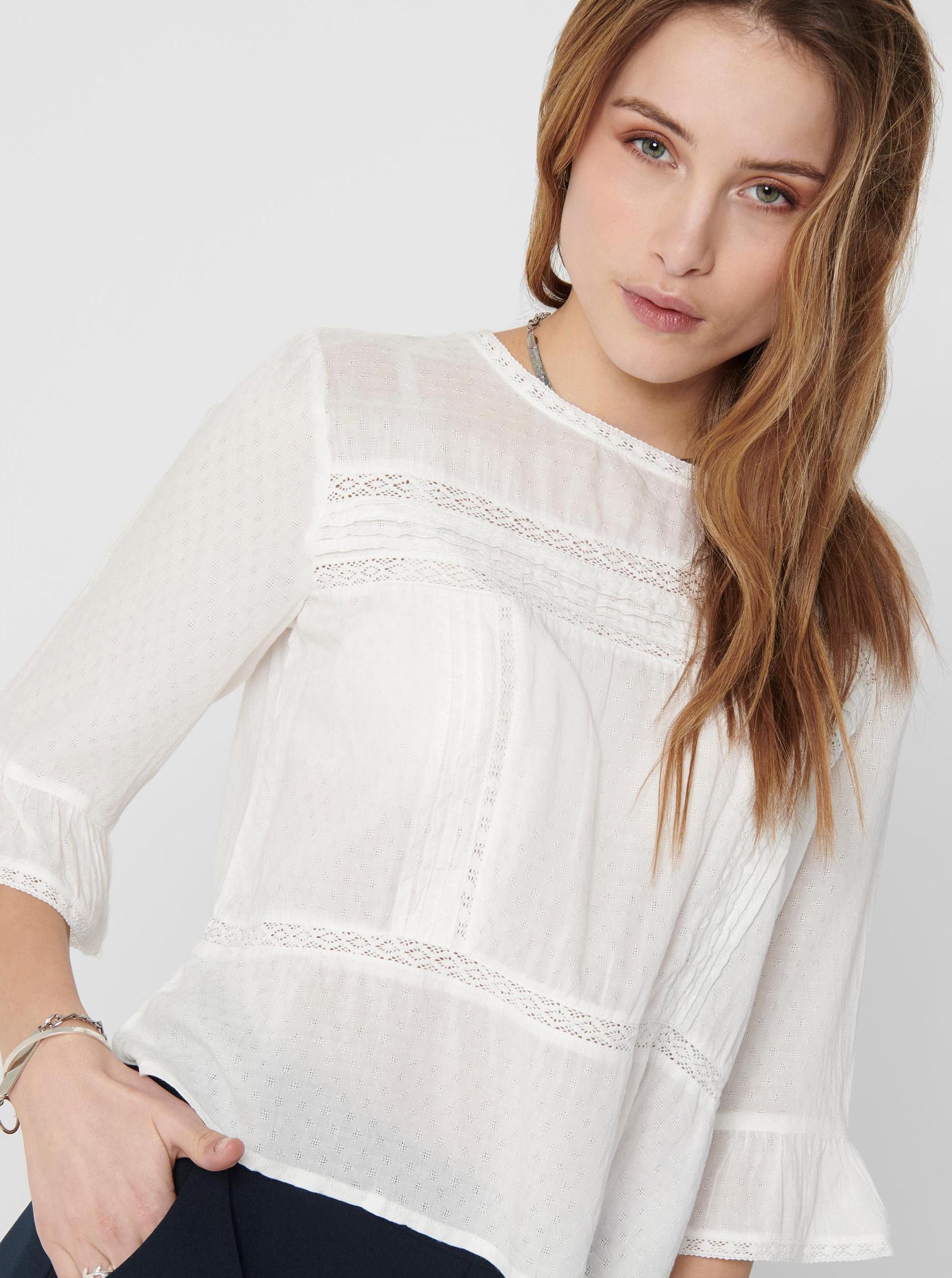 Only biały damska bluzka Anemone