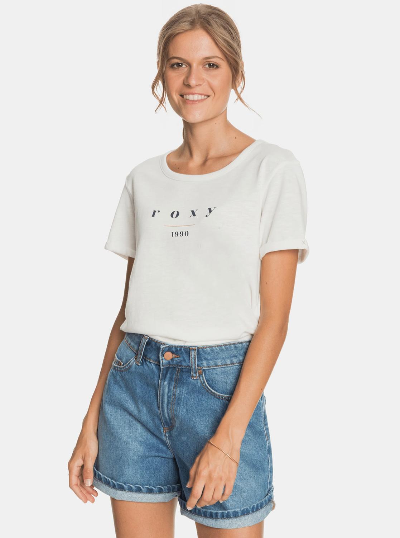 Roxy biały koszulka z nadrukiem