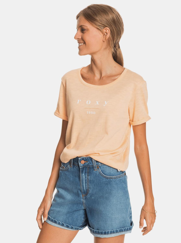 Roxy pomarańczowy koszulka z nadrukiem