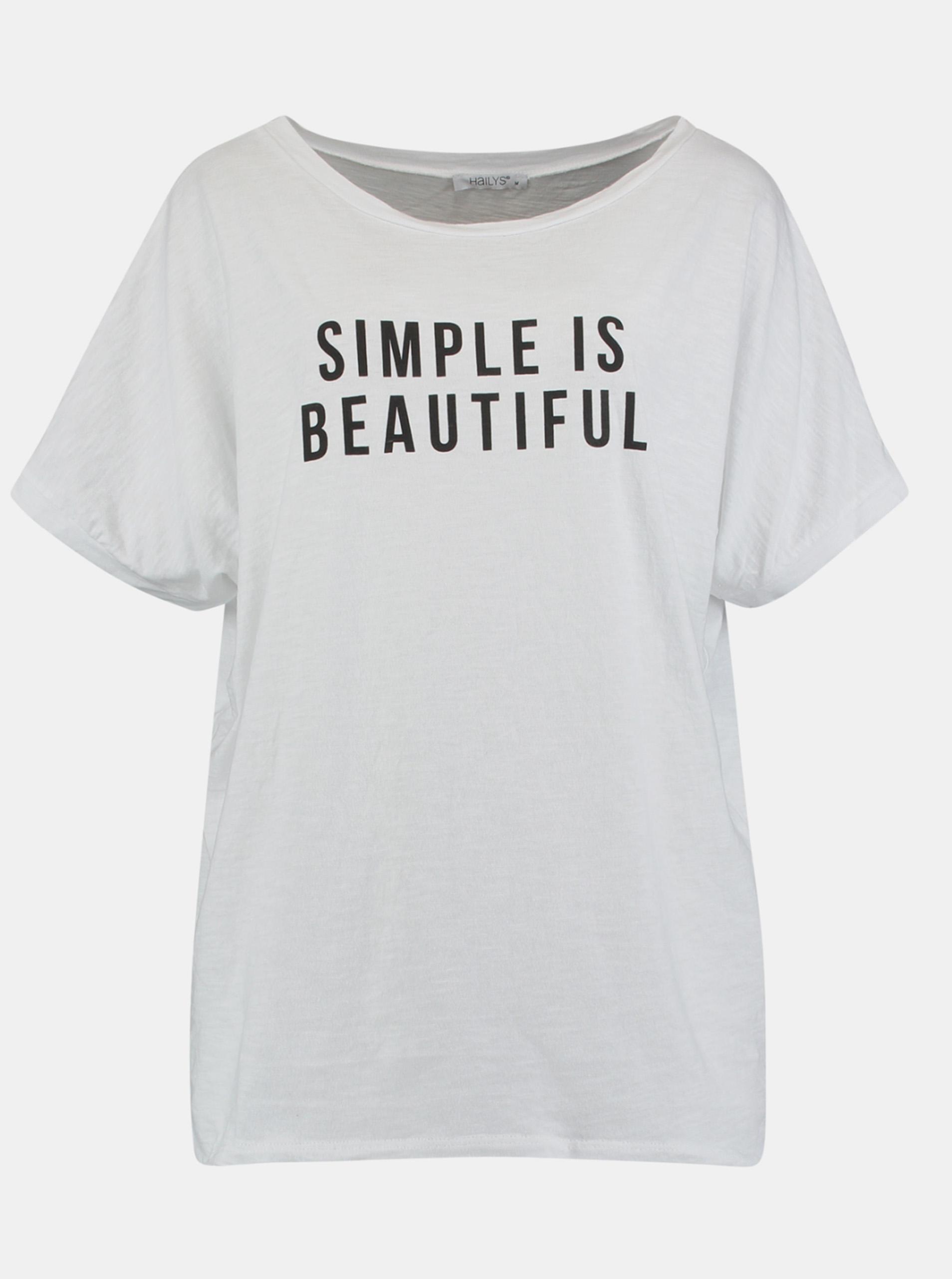Hailys biały koszulka z nadrukiem
