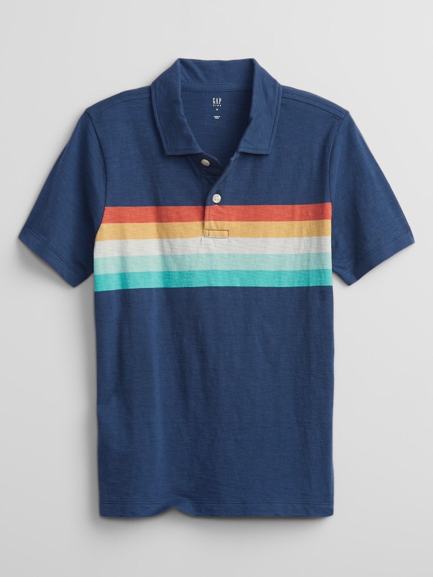 GAP Polo T-shirt dziecięcy Niebieski