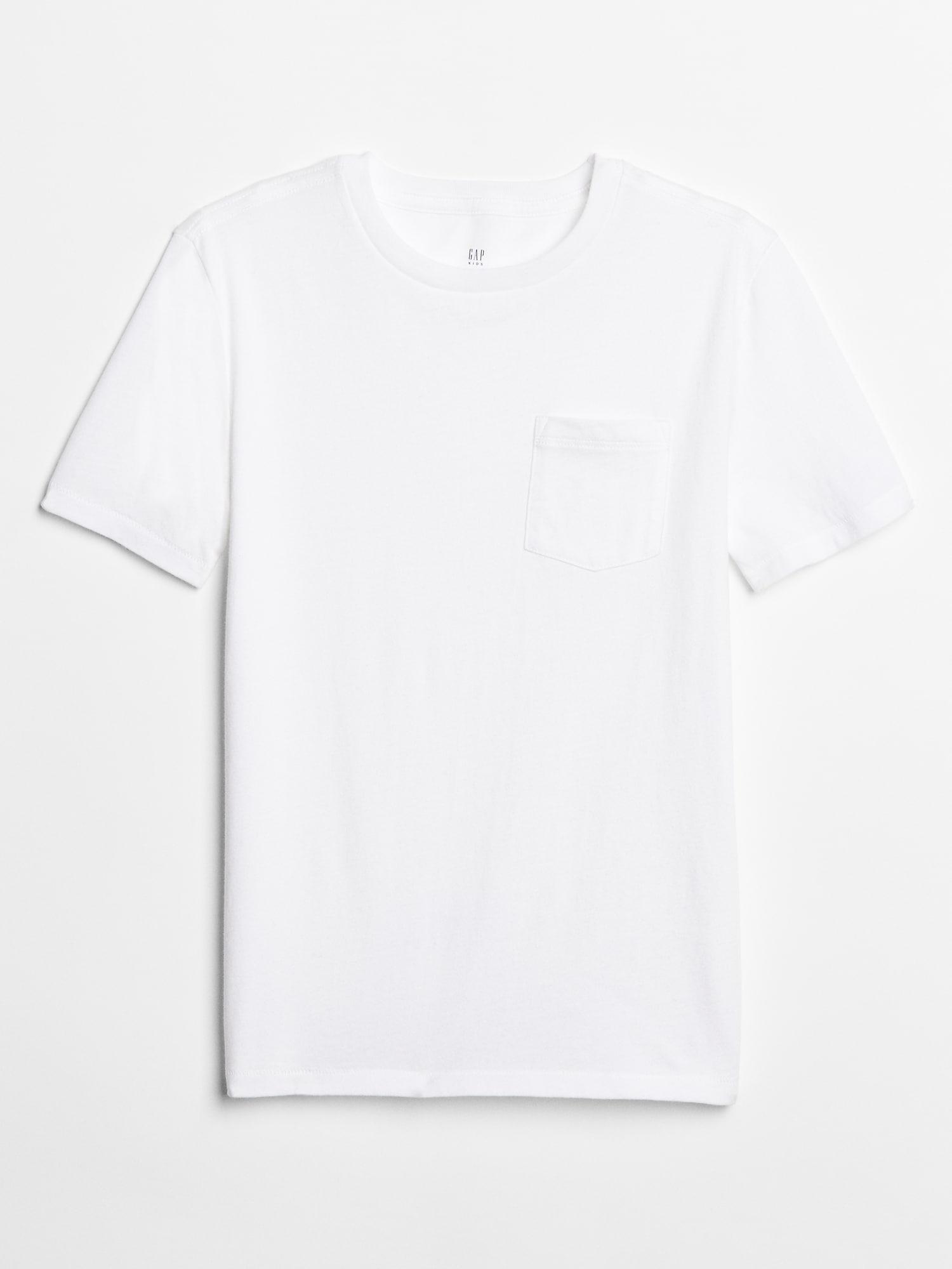 GAP Koszulka chłopięca biały