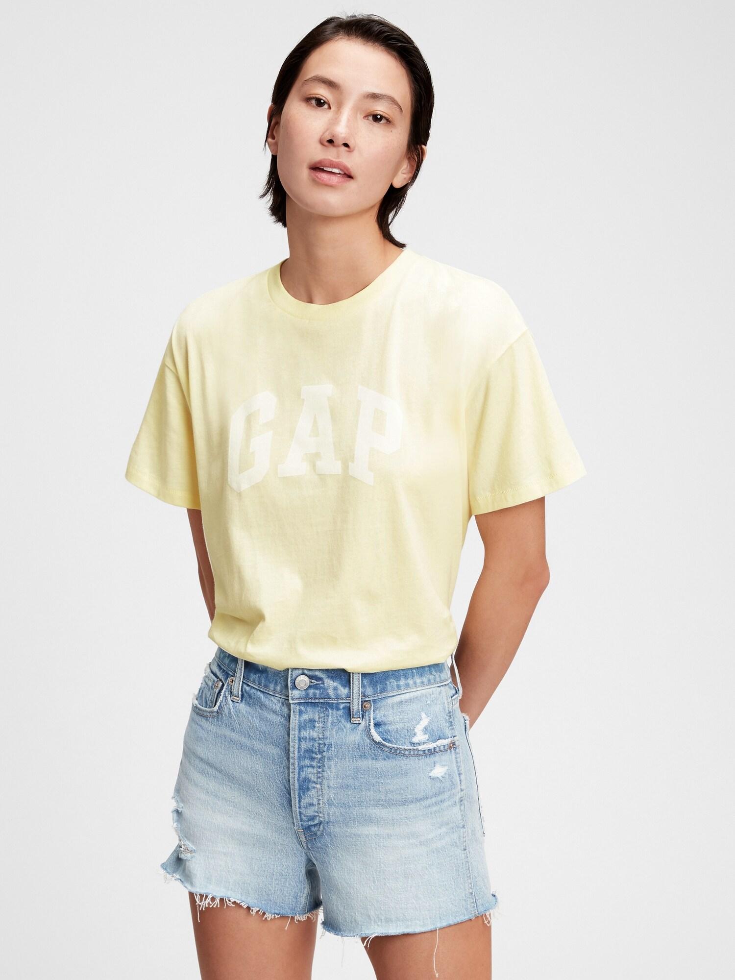 GAP Koszulka damska żółty