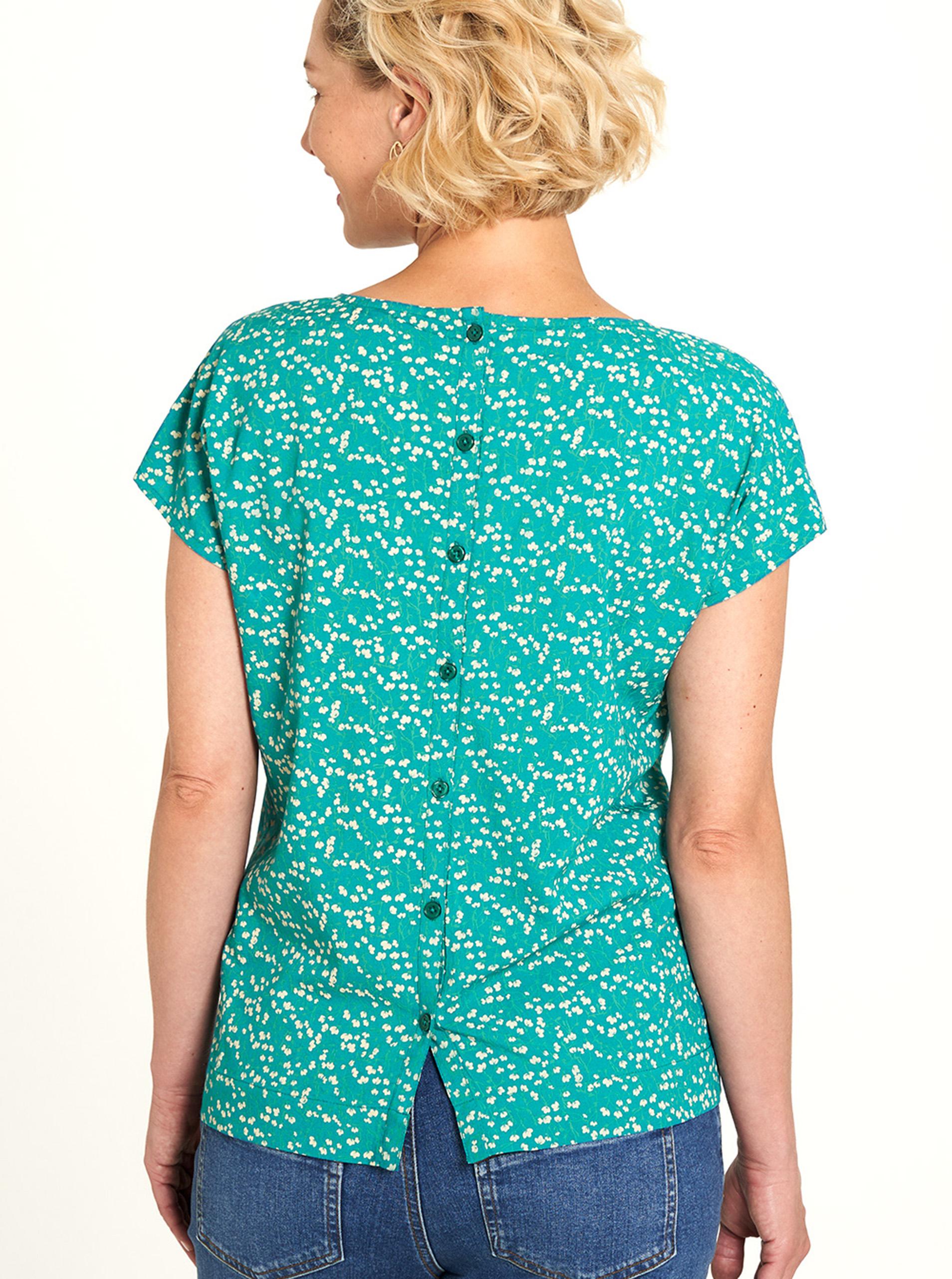 Tranquillo turkusowy koszulka z motywem kwiecistym
