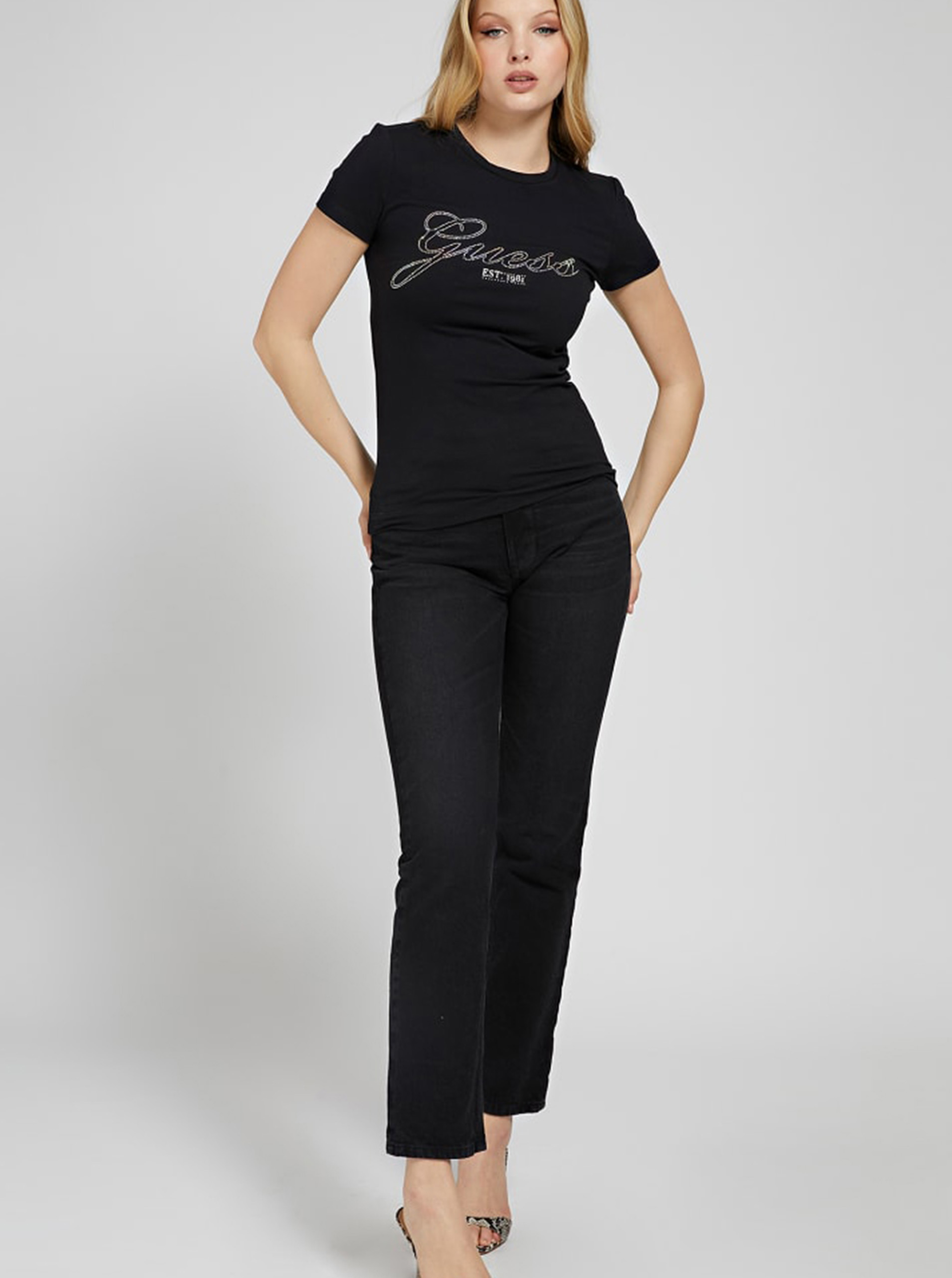 Guess czarny koszulka Selina