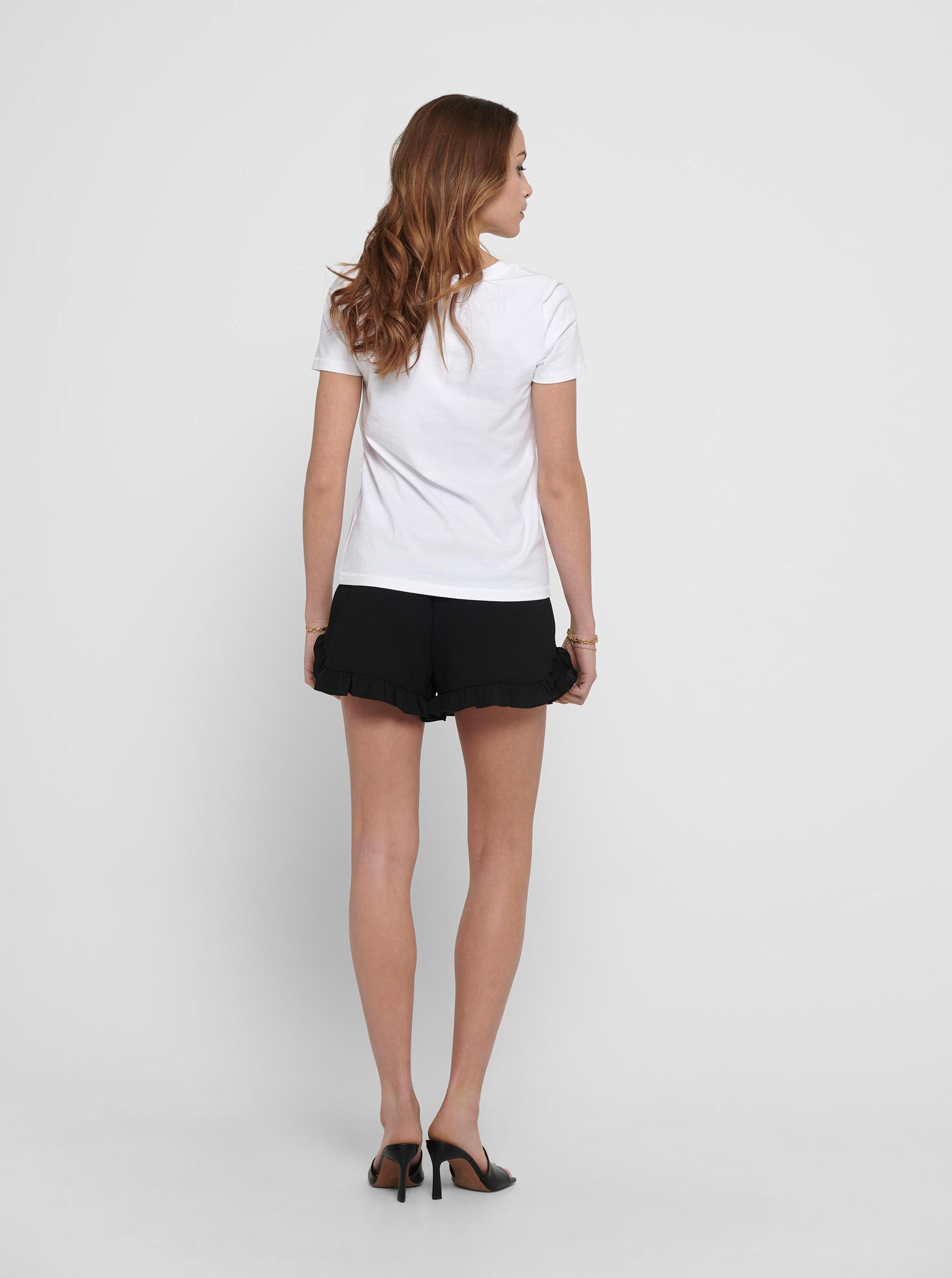 Only biały damska koszulka Kita z nadrukiem