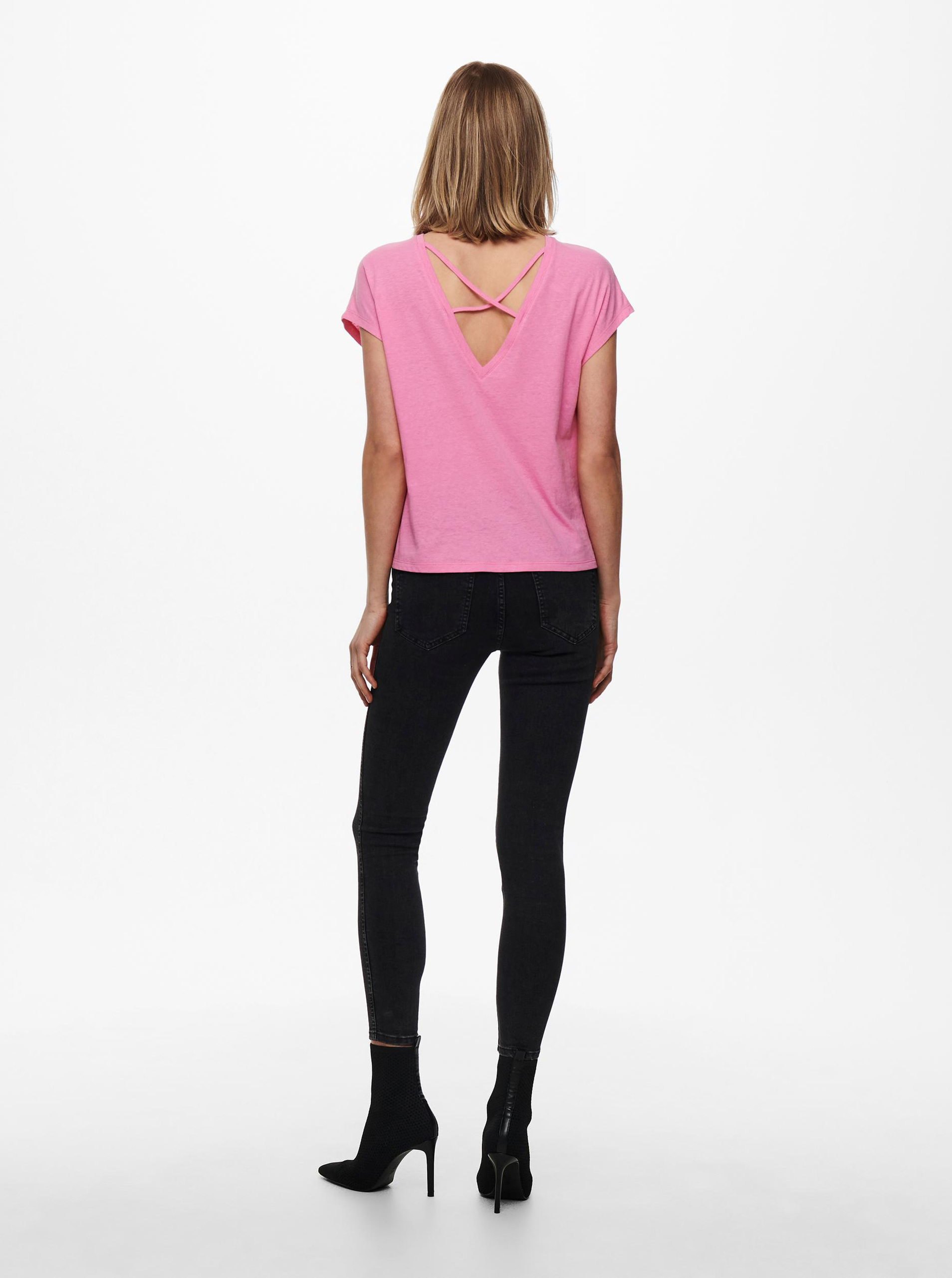 Only różowy damska koszulka Ama