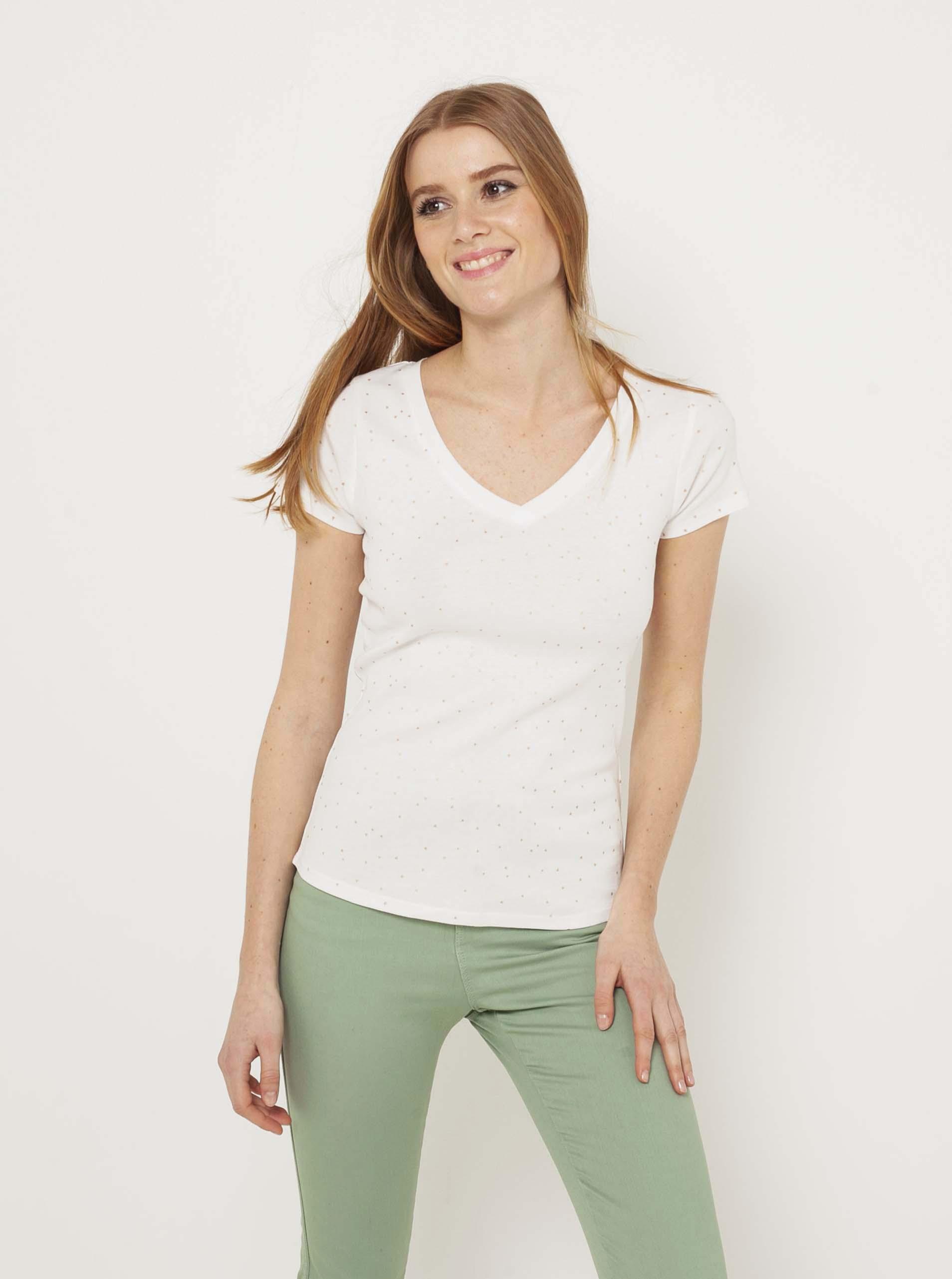CAMAIEU biały damski basic koszulka