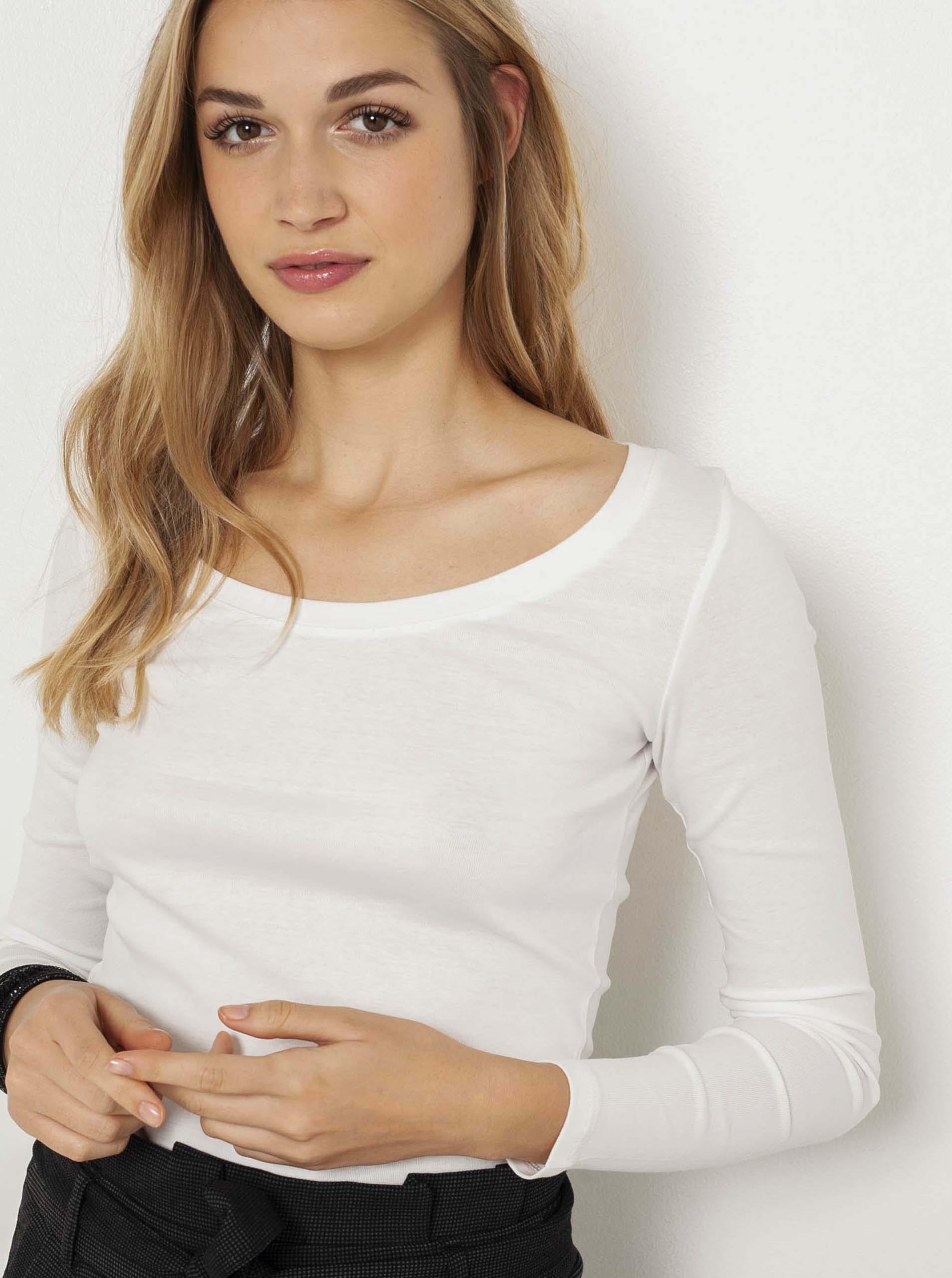 CAMAIEU biały basic damska koszulka
