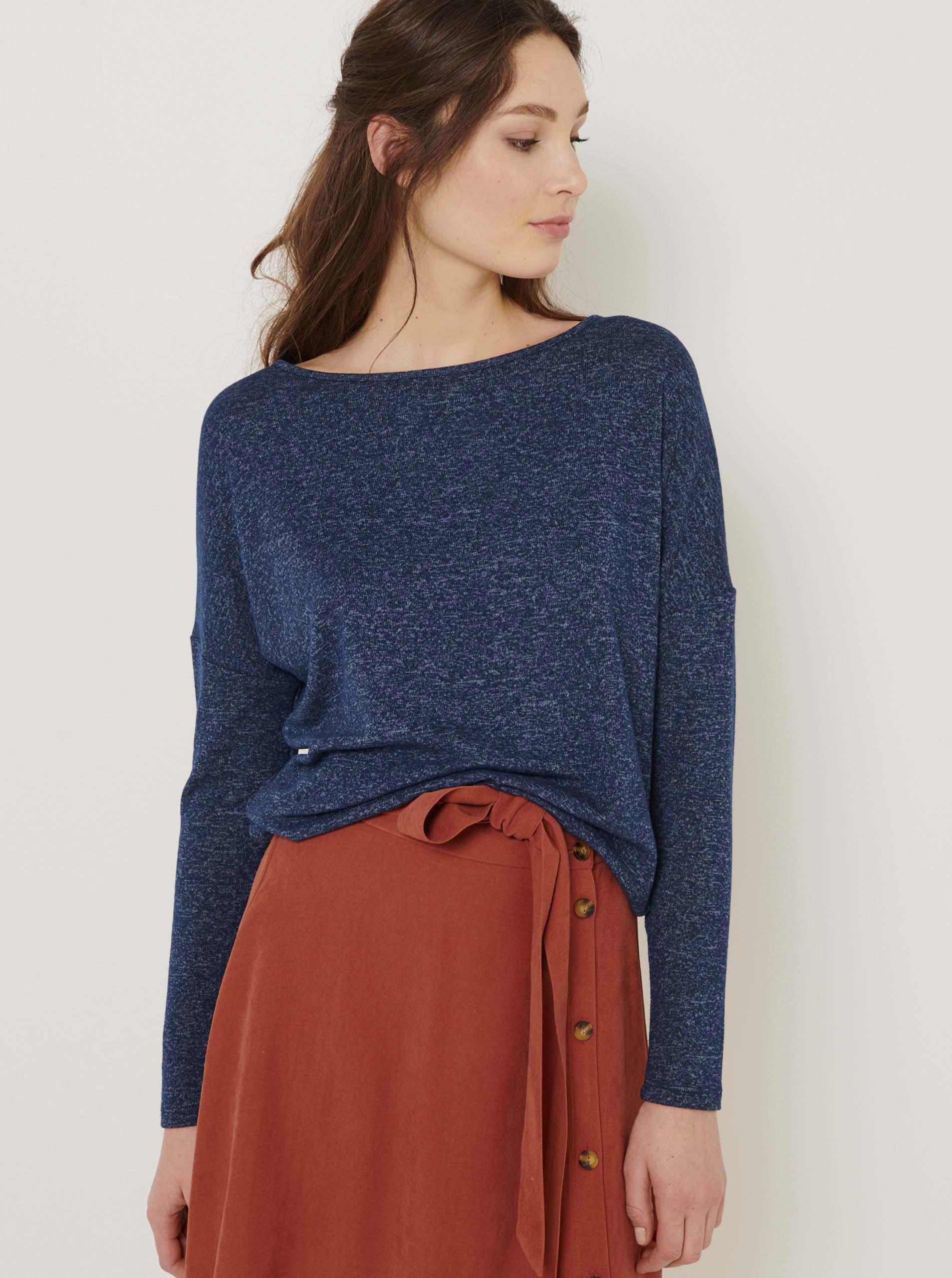 CAMAIEU niebieski damska koszulka