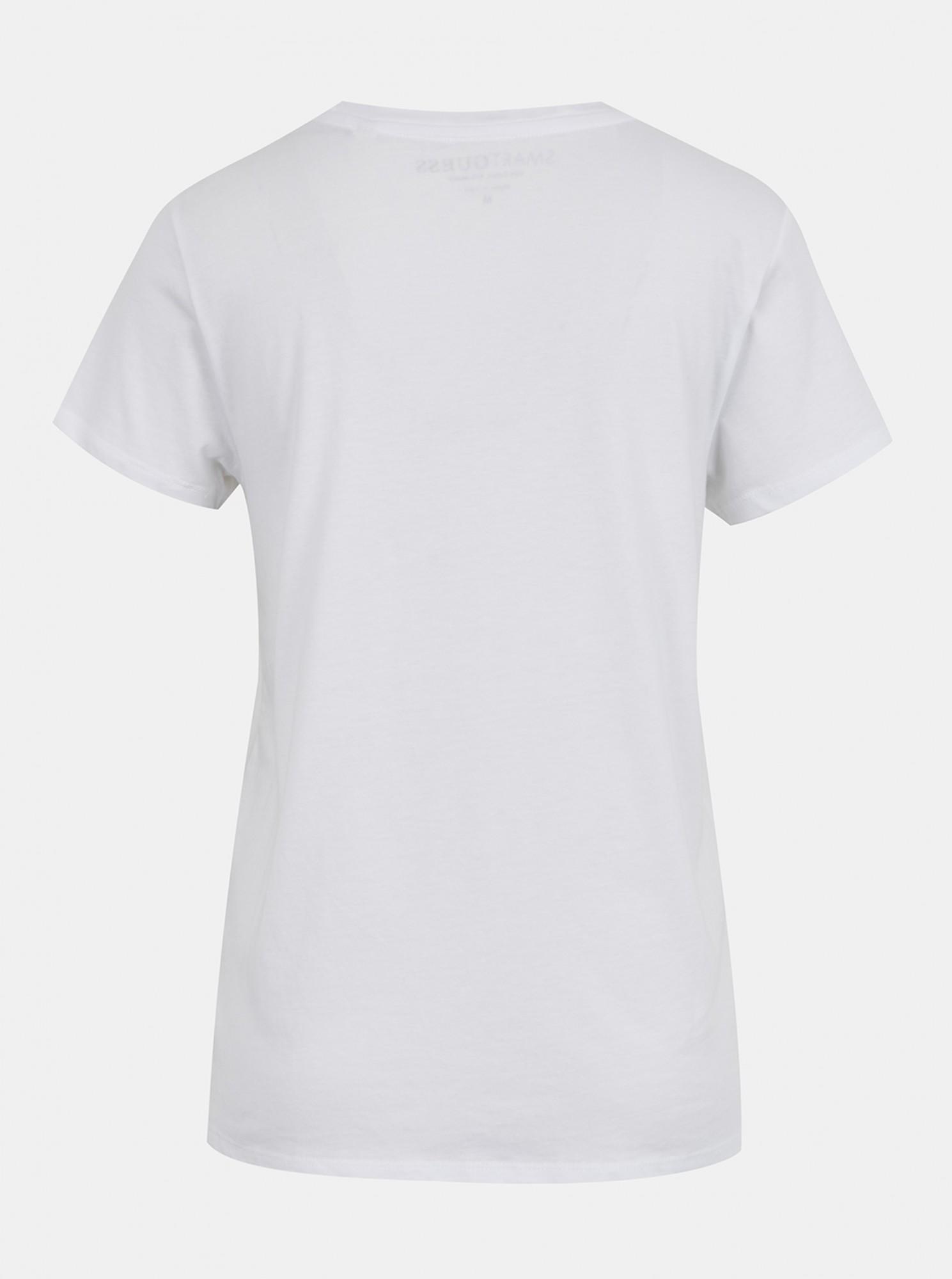 Guess biały koszulka Odette Tee z nadrukiem