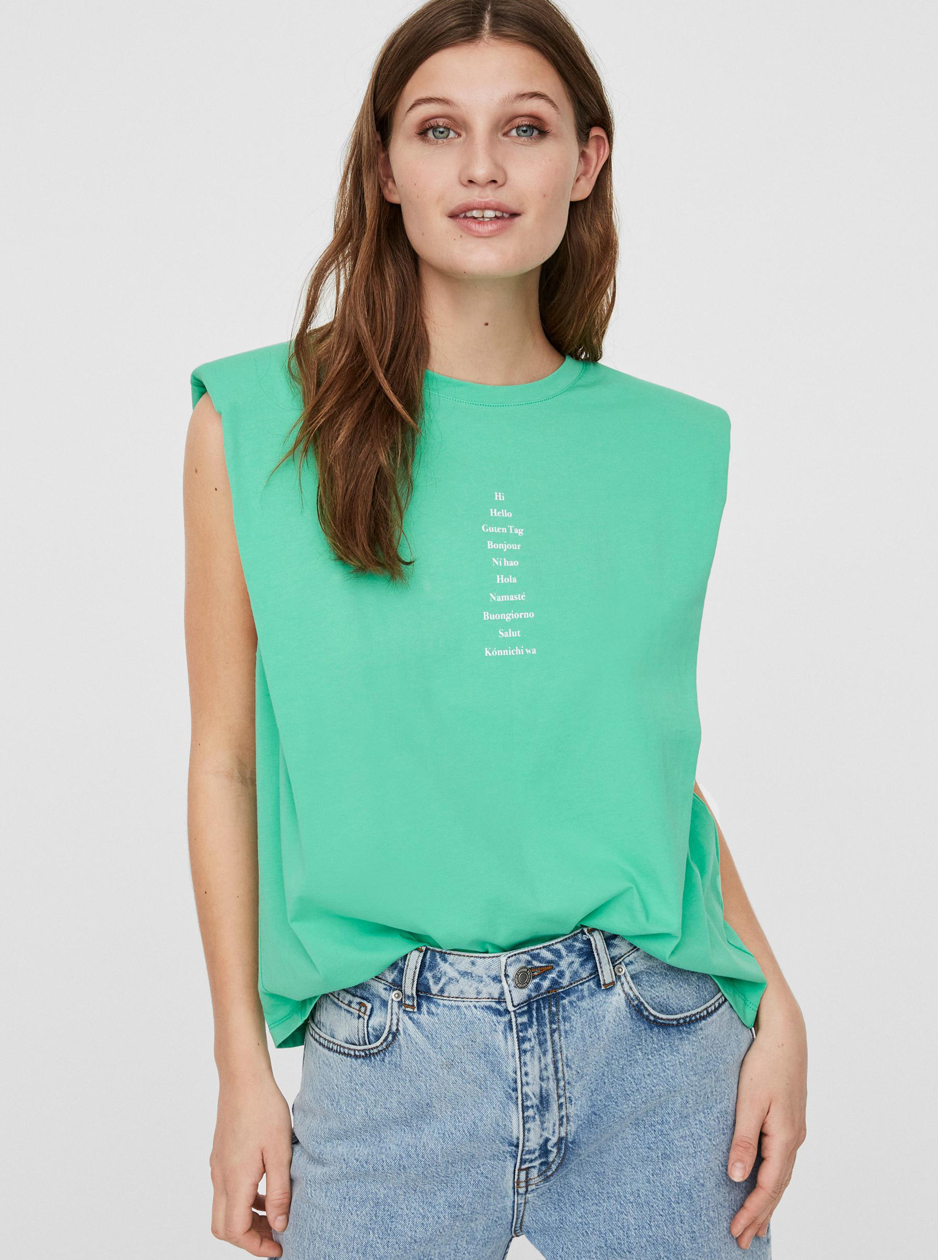 Vero Moda zielony koszulka Hollie
