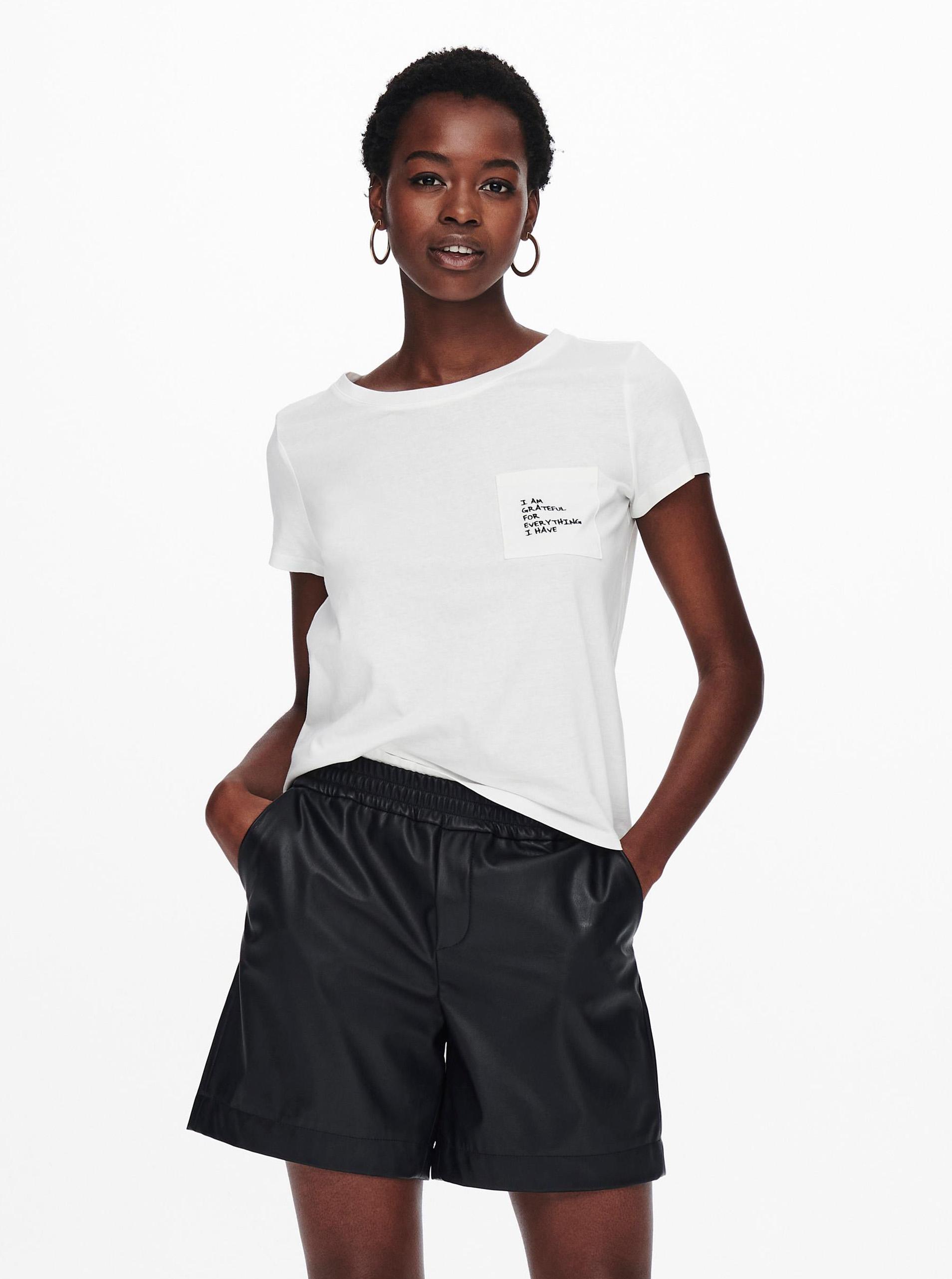 Jacqueline de Yong biały koszulka Dina