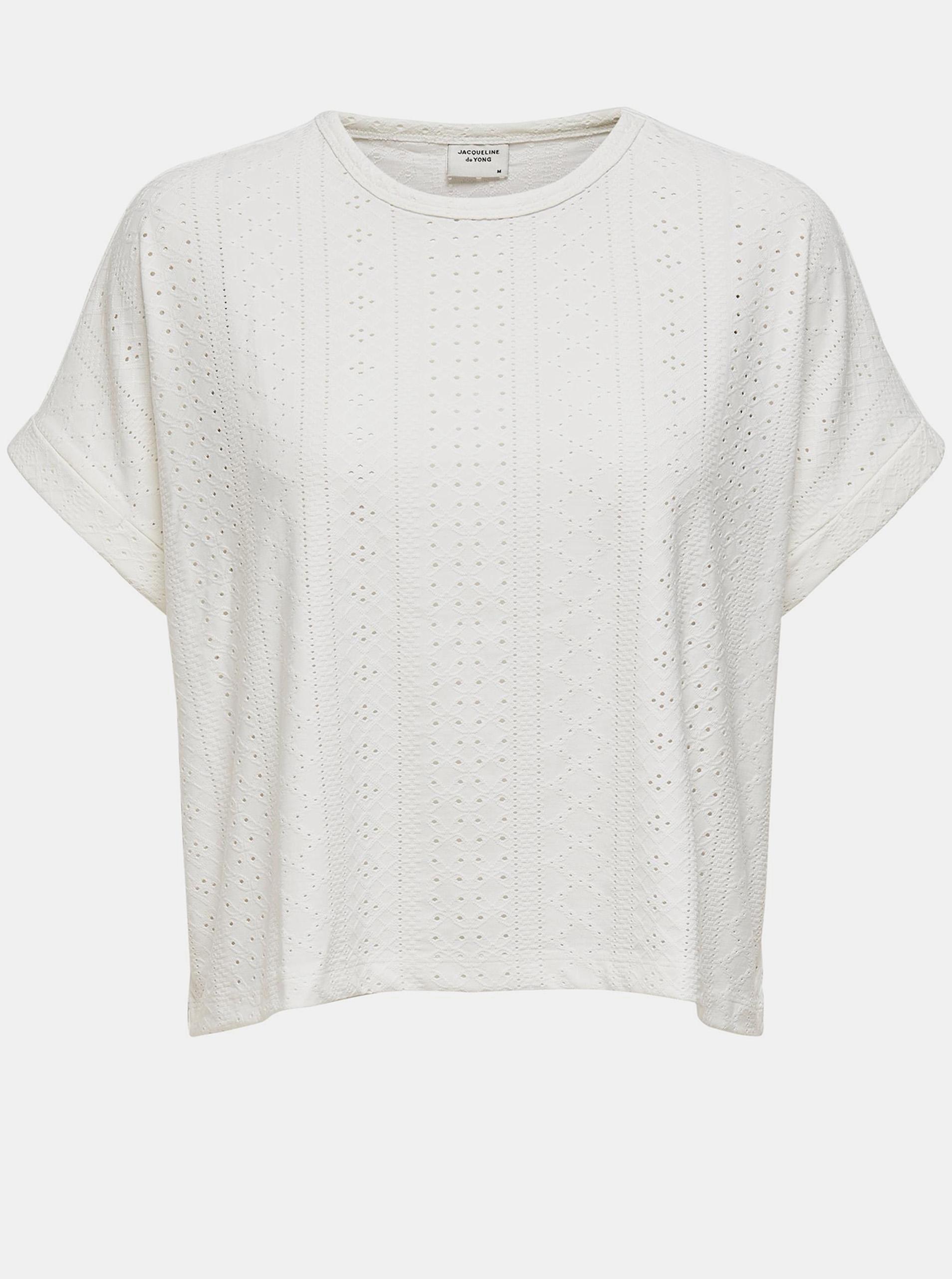 Jacqueline de Yong biały koszulka Fatinka