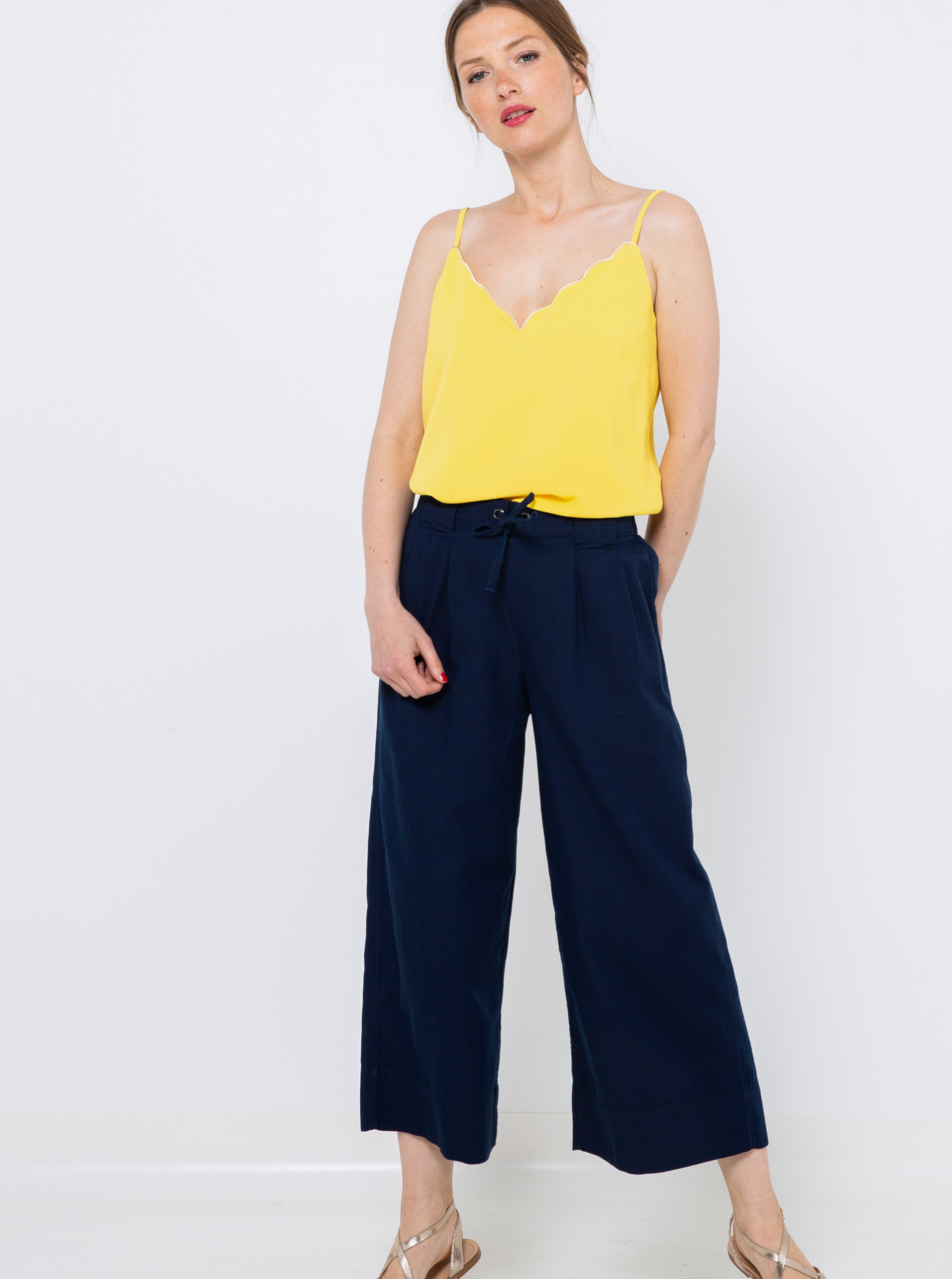 CAMAIEU żółty damski top