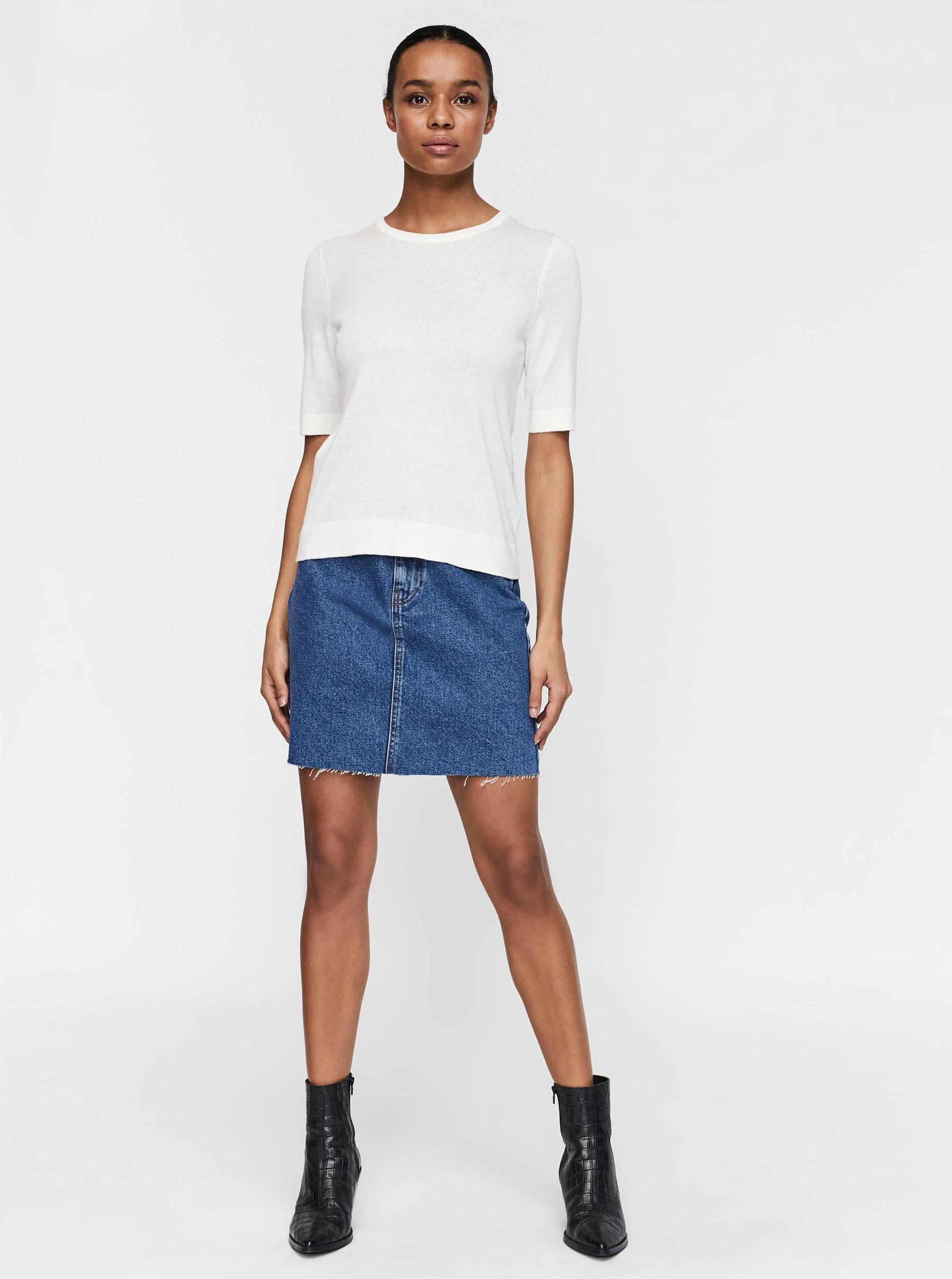 Vero Moda écru/kremowy koszulka Silke