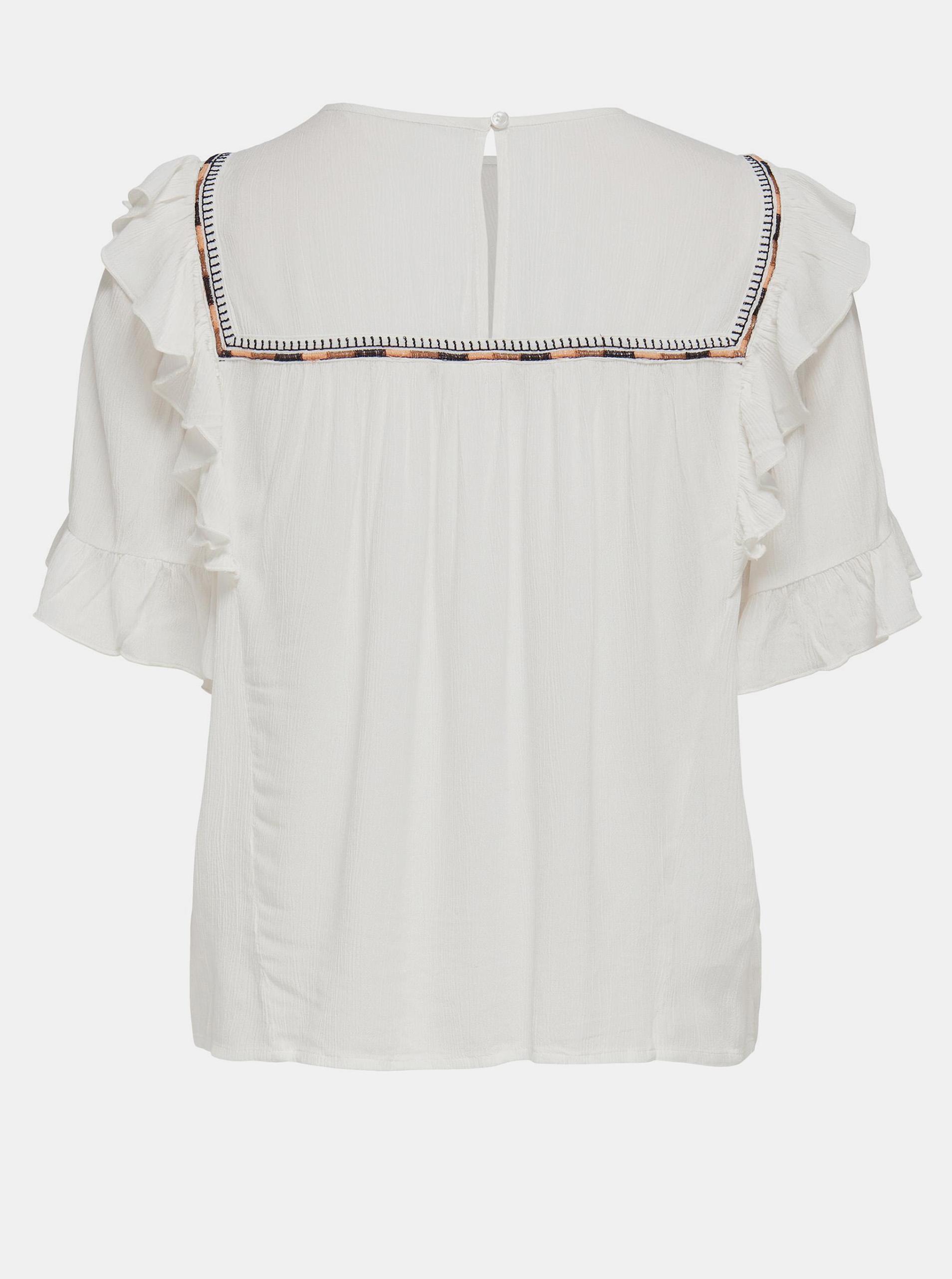 Only écru/kremowy bluzka Mynte