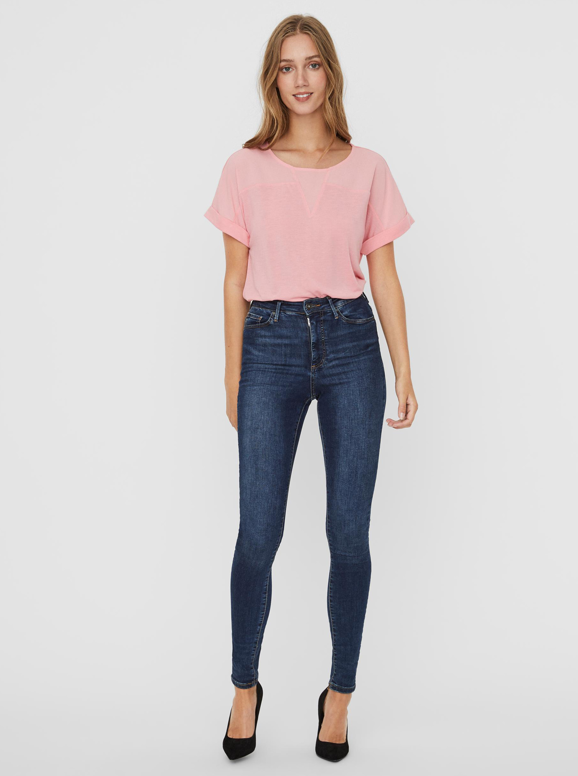 Vero Moda różowy bluzka Ellen