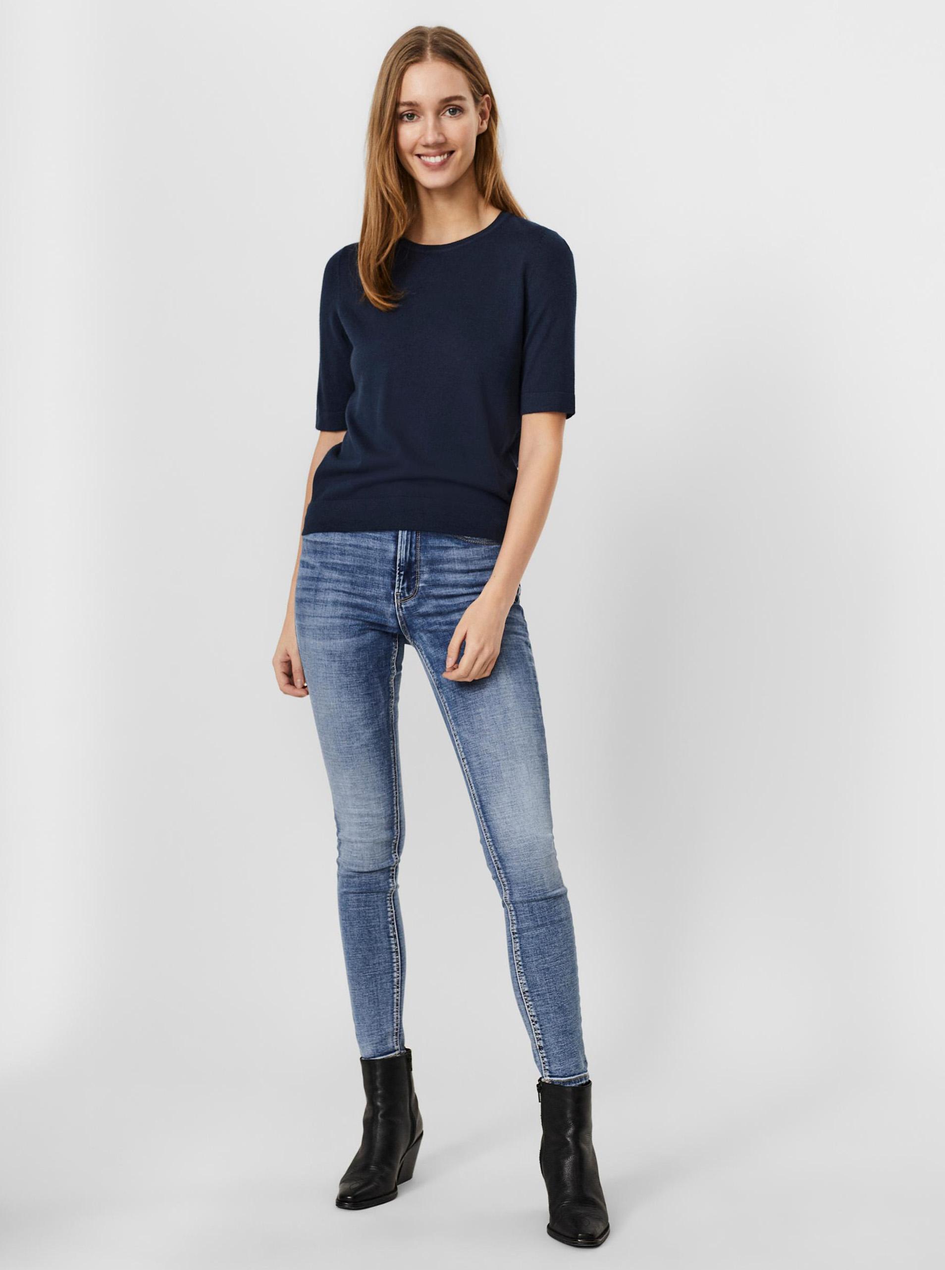 Vero Moda niebieski koszulka Silke