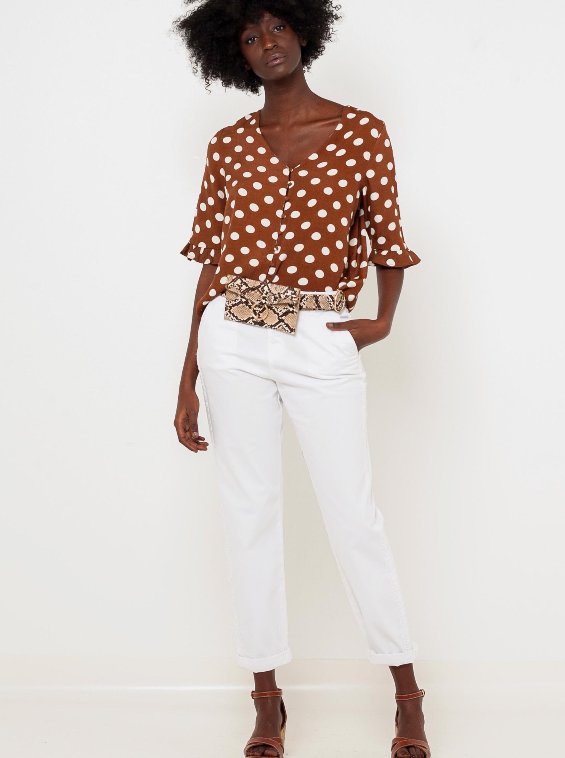 CAMAIEU brązowy bluzka