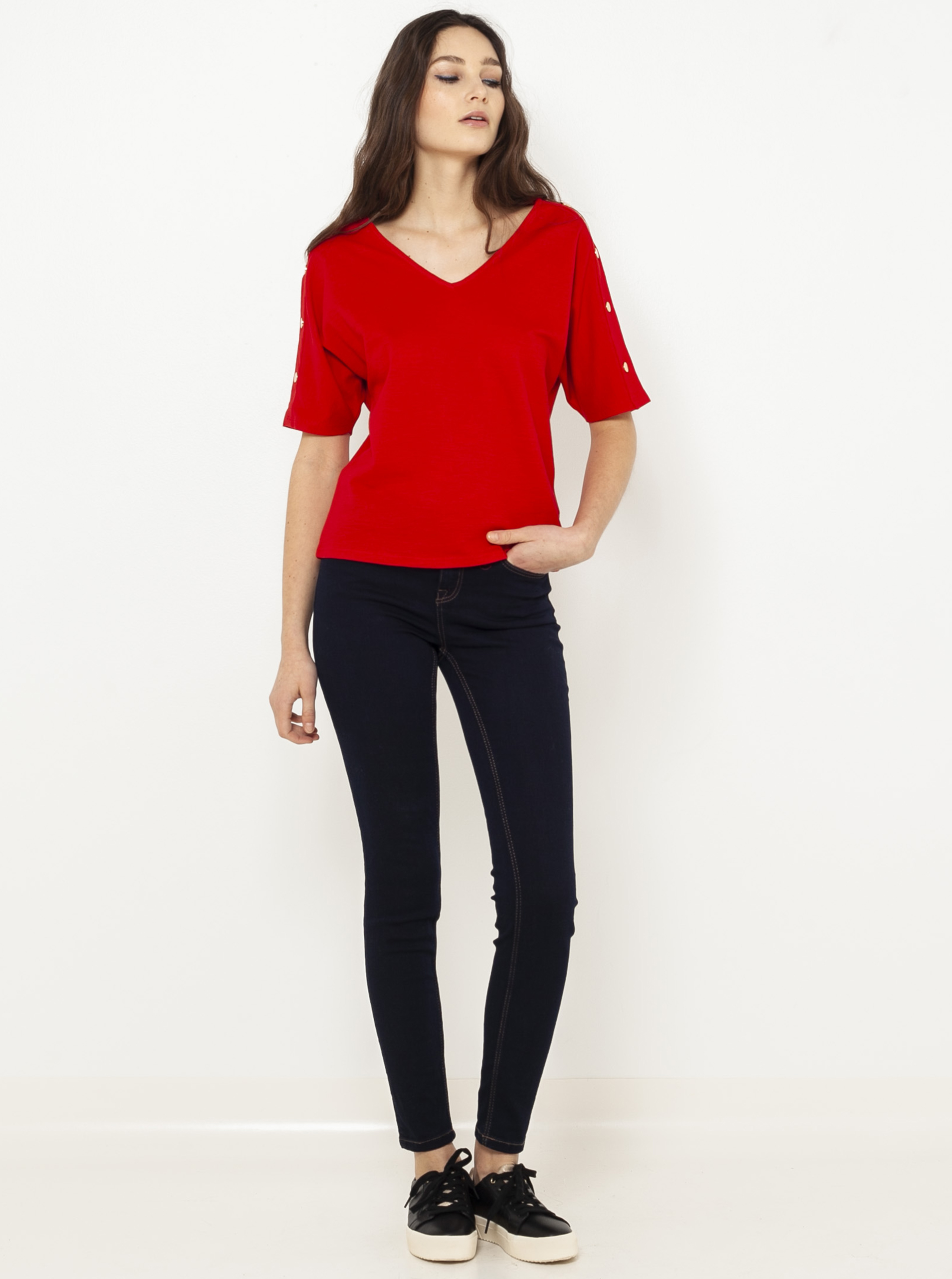 CAMAIEU Koszulka damska czerwony