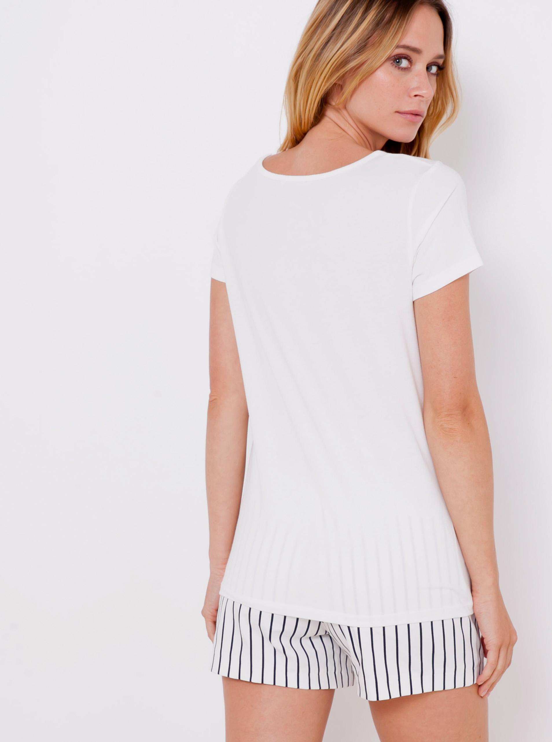 CAMAIEU Koszulka damska biały