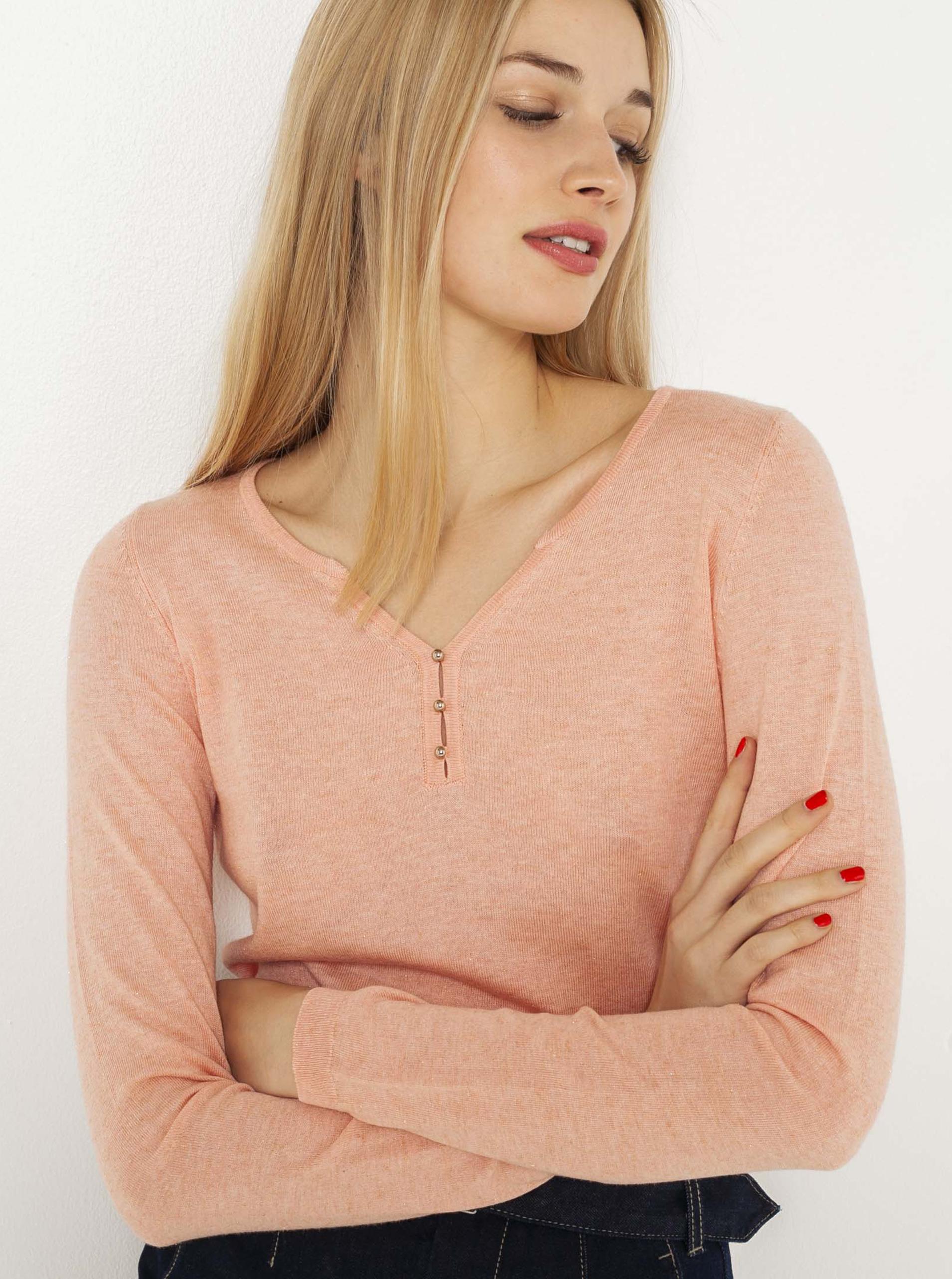 CAMAIEU różowy koszulka