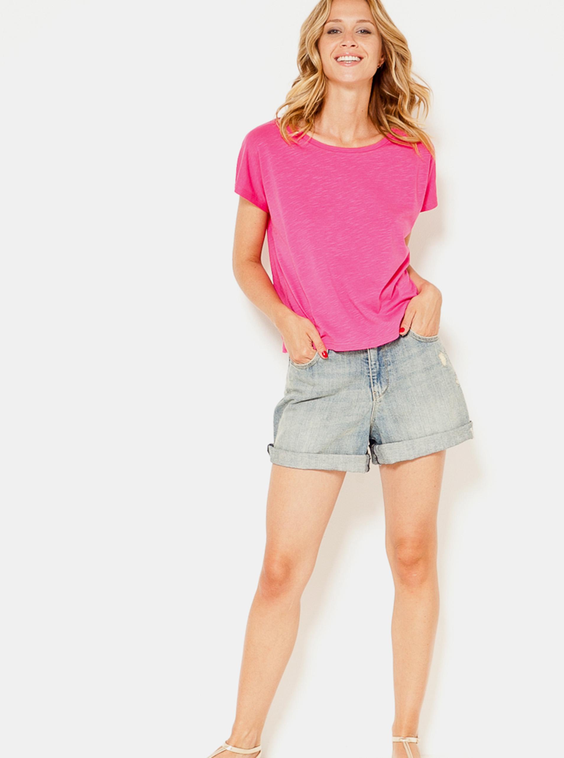 CAMAIEU różowy damska koszulka