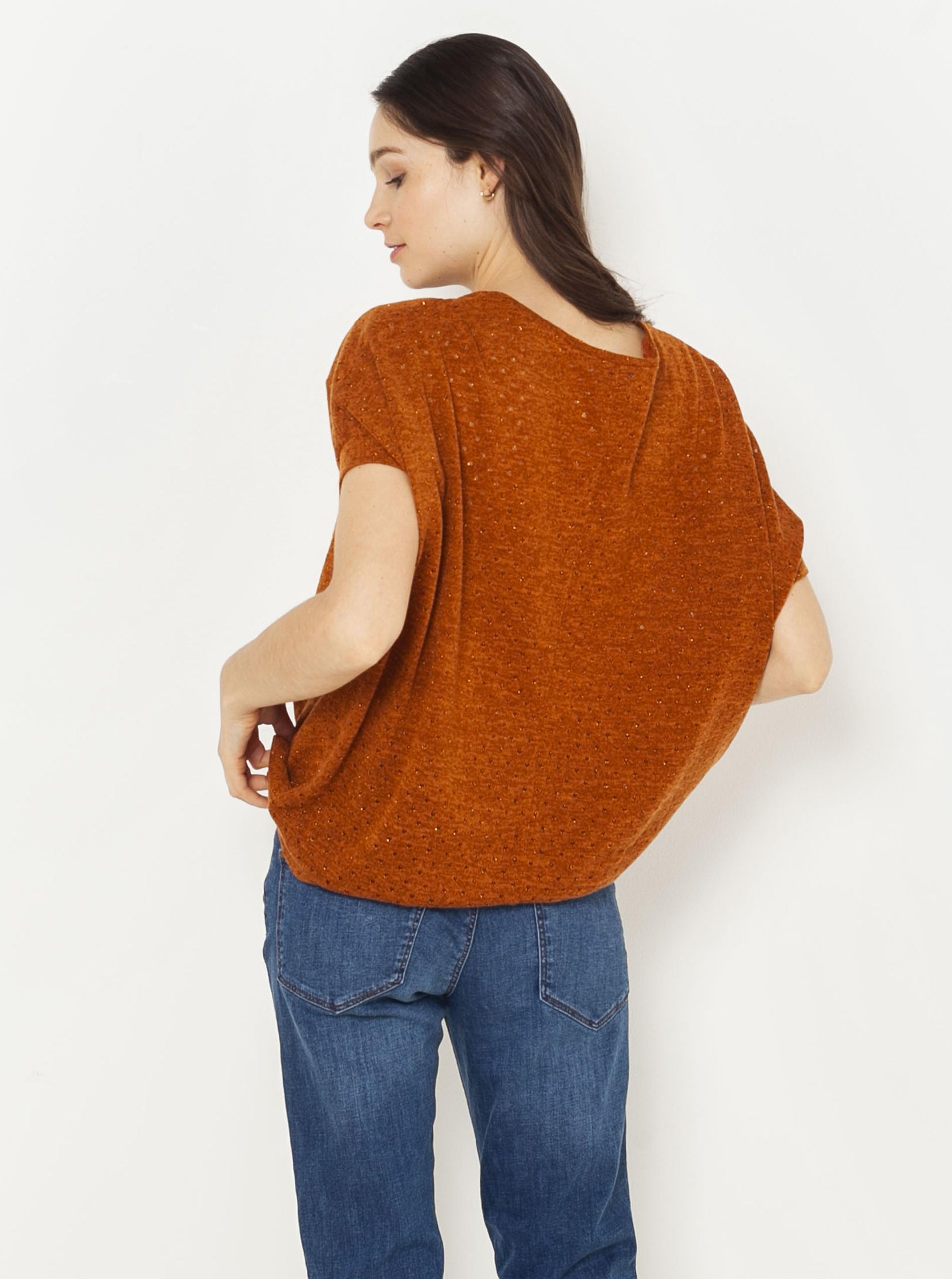 CAMAIEU brązowy koszulka
