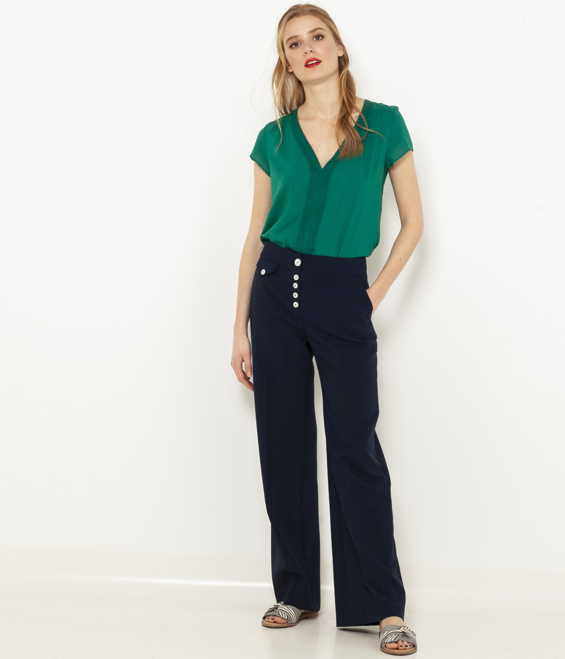 CAMAIEU Bluzka damska zielony