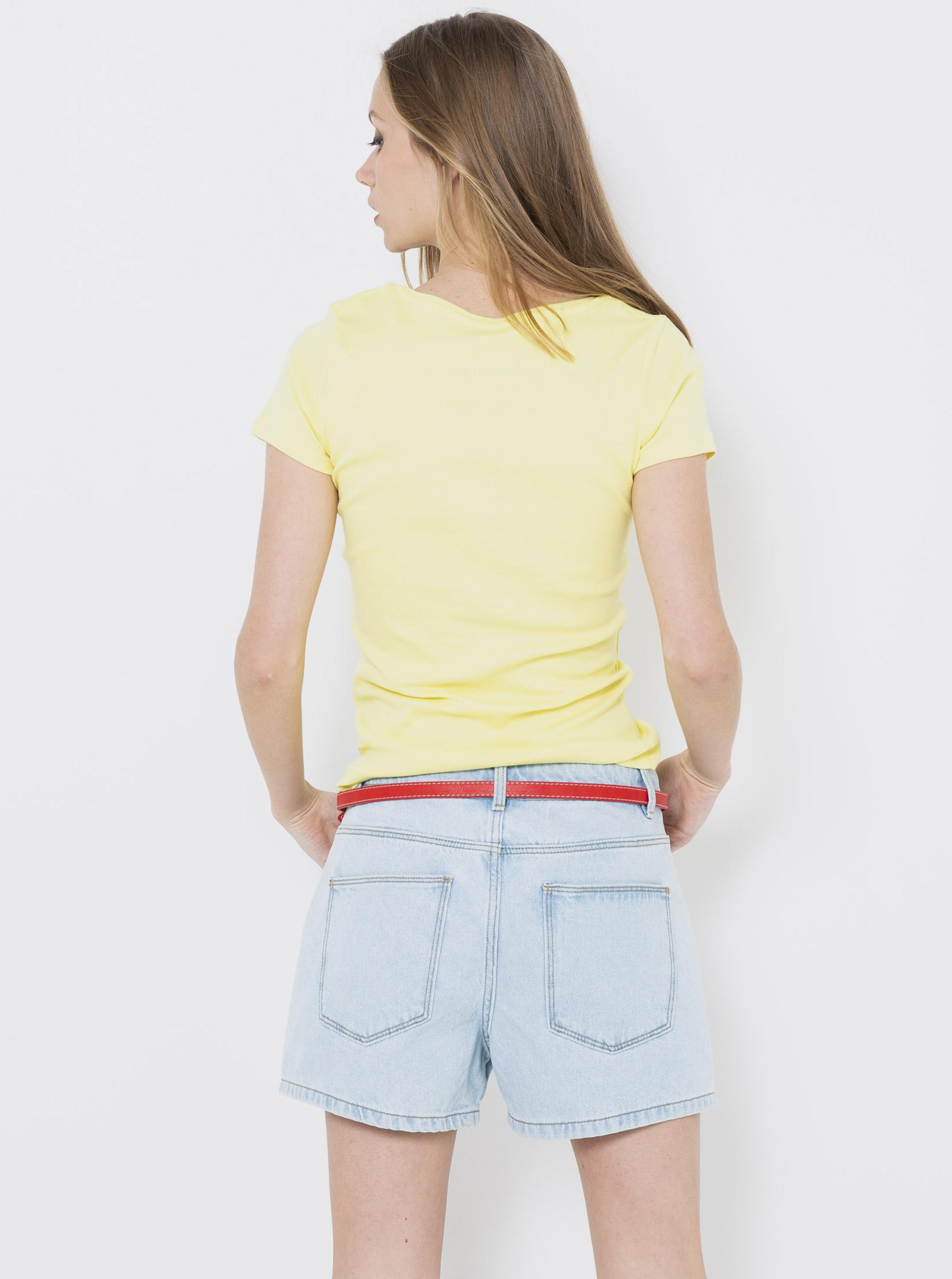 CAMAIEU Koszulka damska żółty