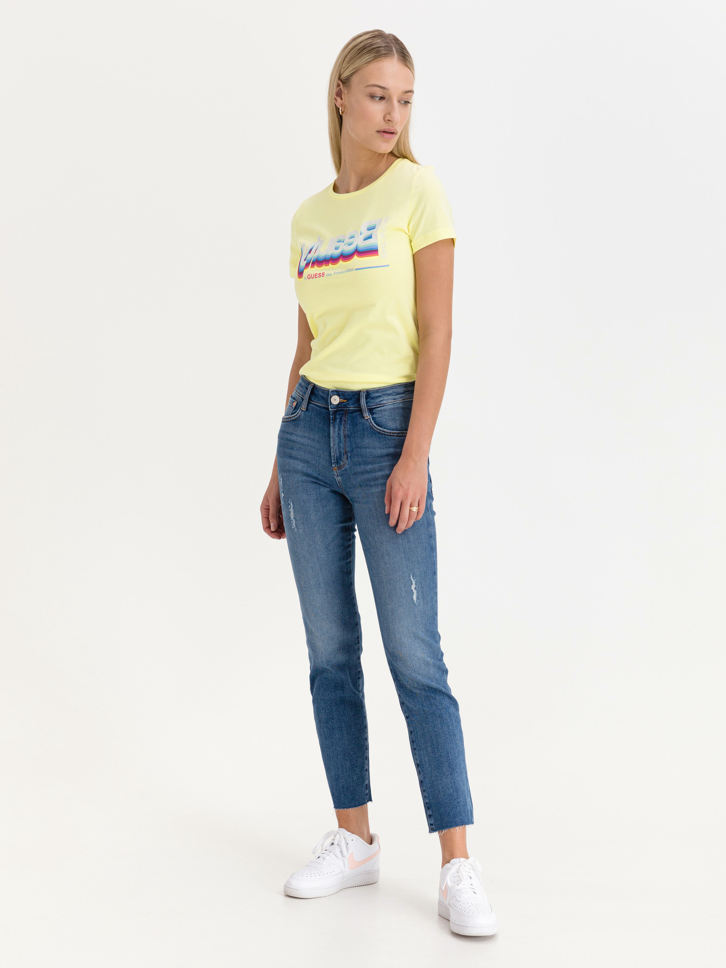 Guess żółty koszulka Beauty