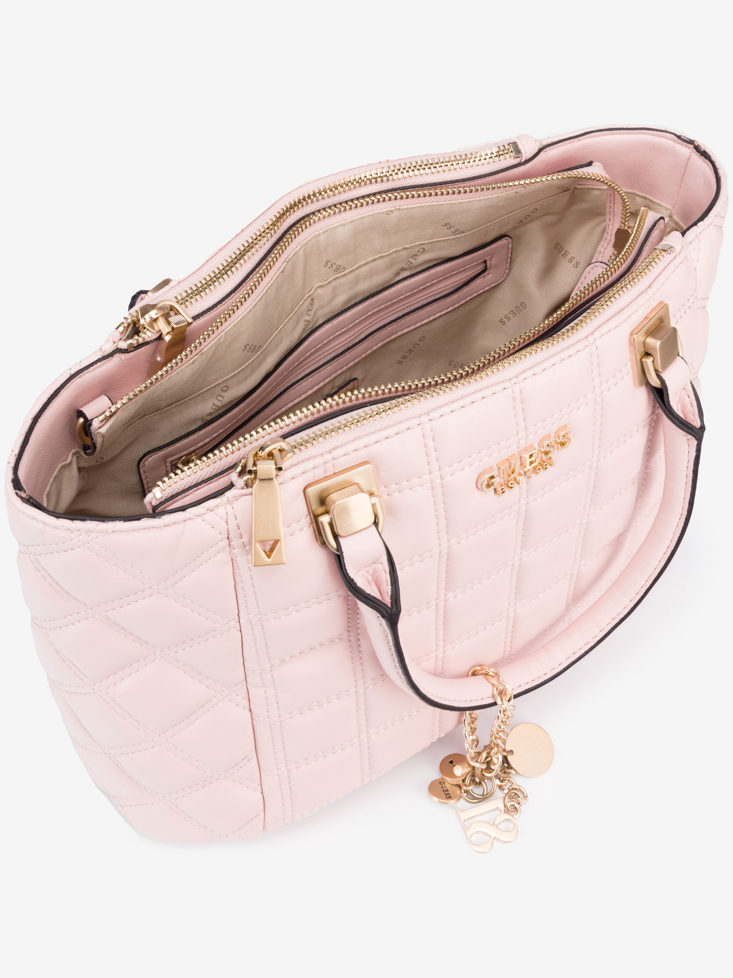 Guess różowy torebka Kamina Status