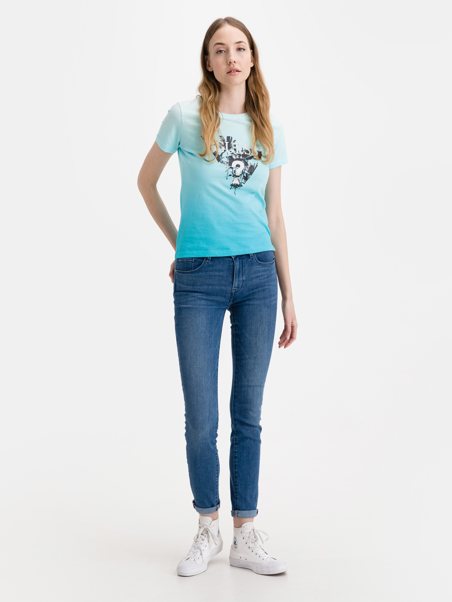 Guess niebieski koszulka Palms