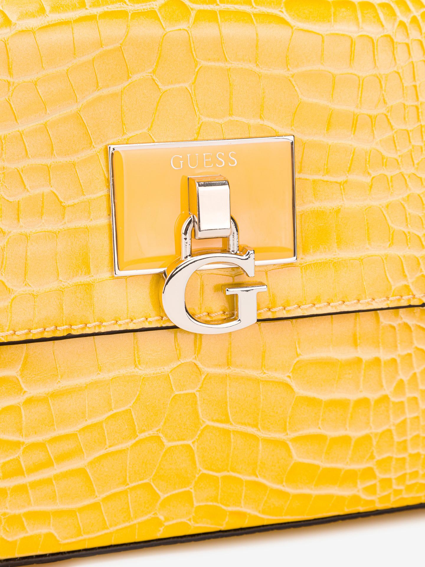 Guess żółty crossbody torebka Carabel