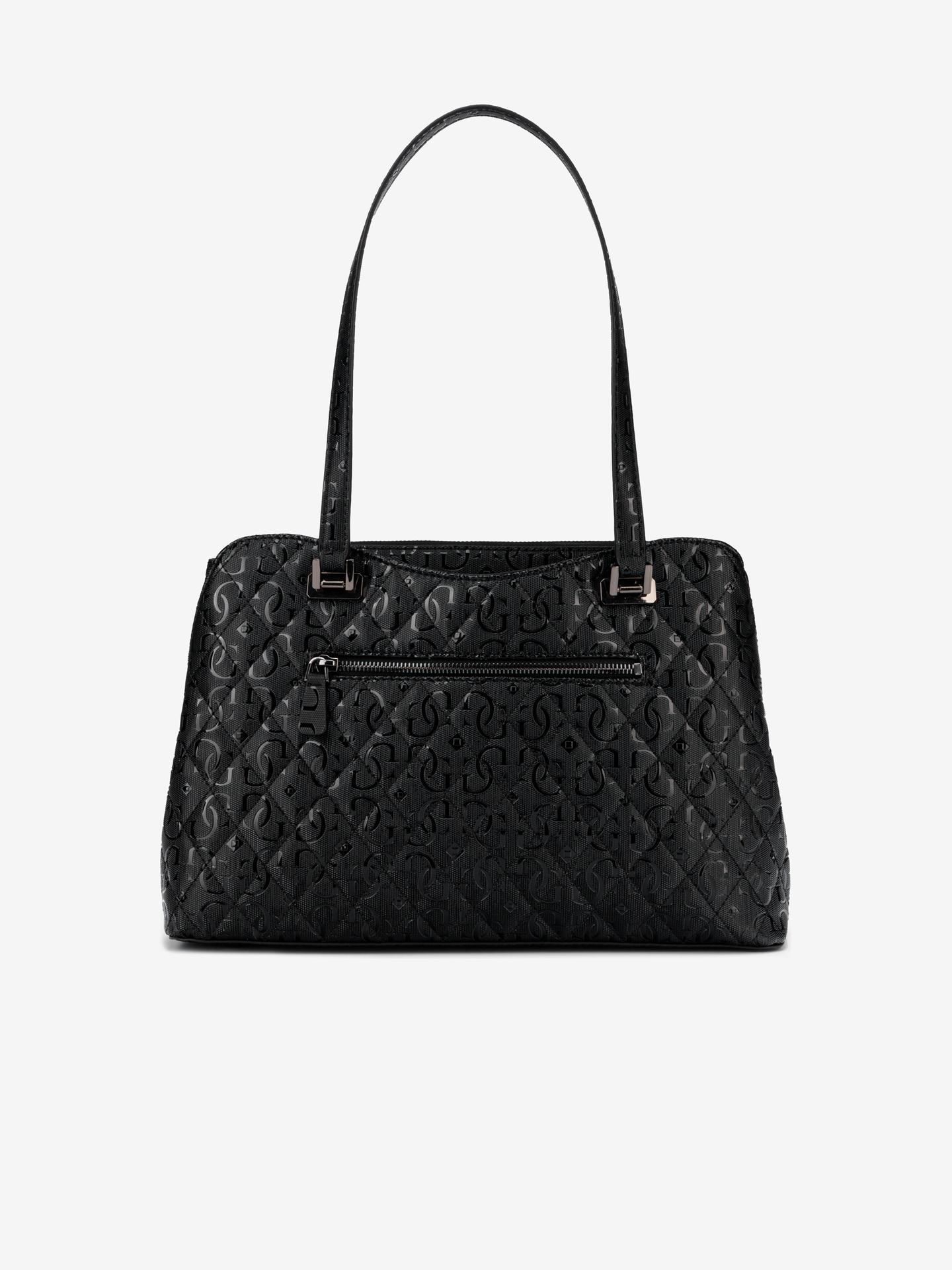 Guess czarny torebka Lola Glossy Logo Maxi