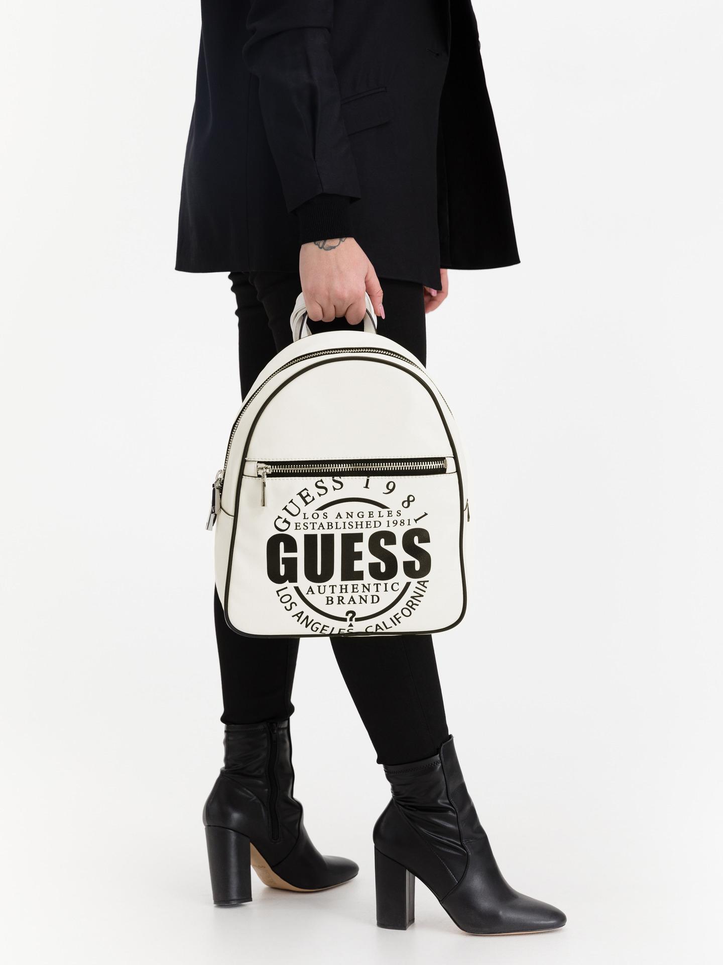 Guess biały plecak Kalipso Large