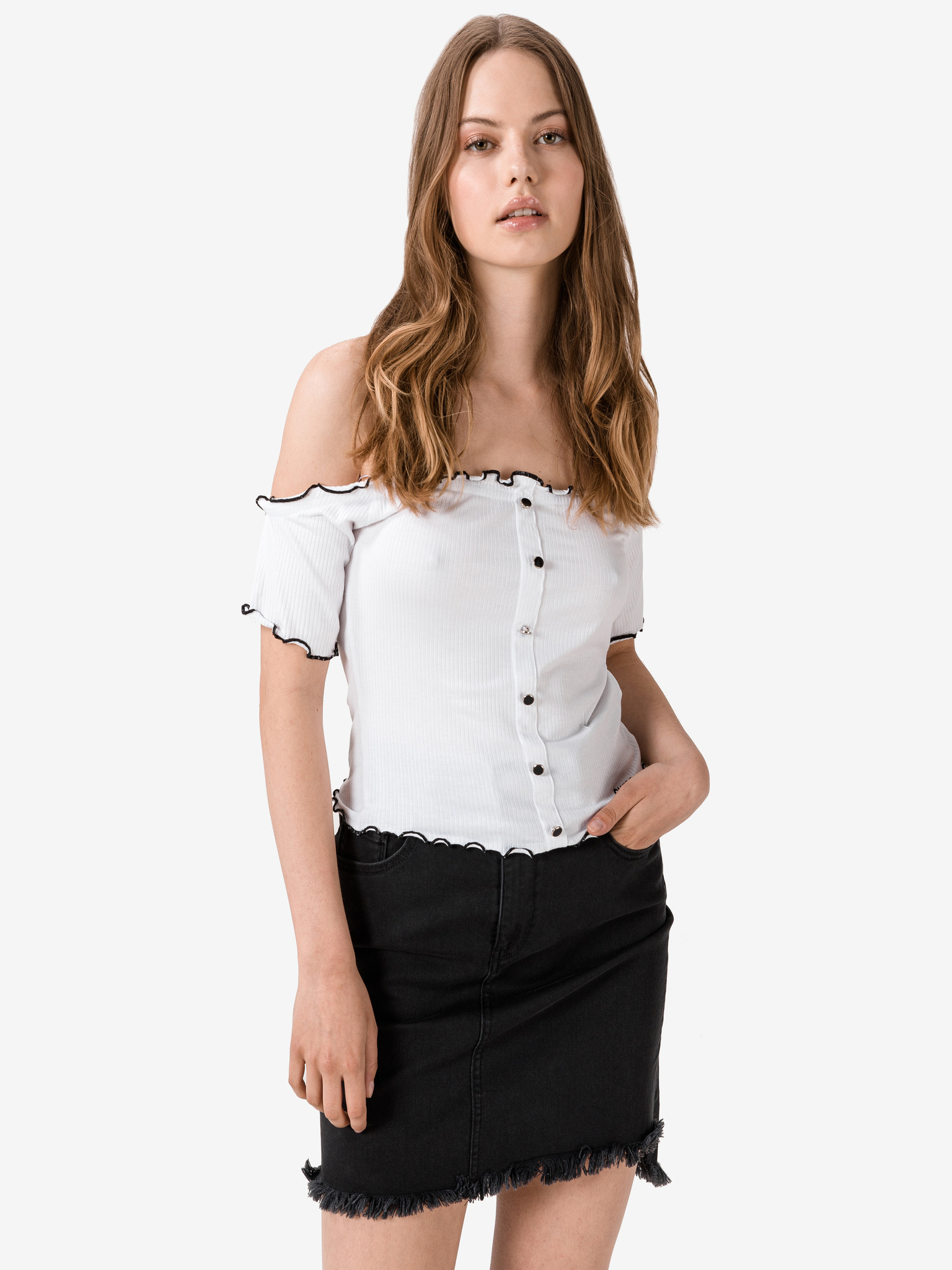Guess biały koszulka Estia