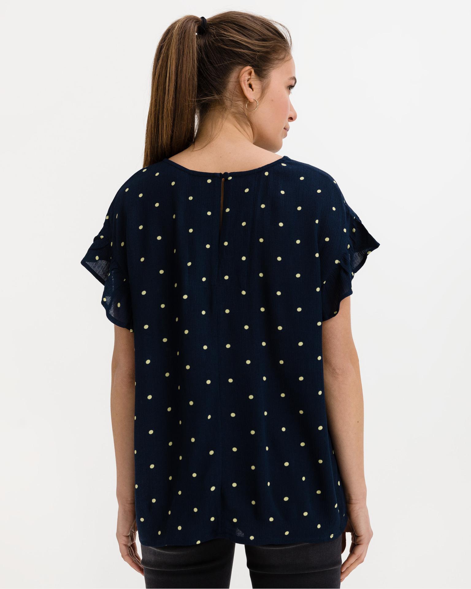 Ichi niebieski bluzka Marrakech