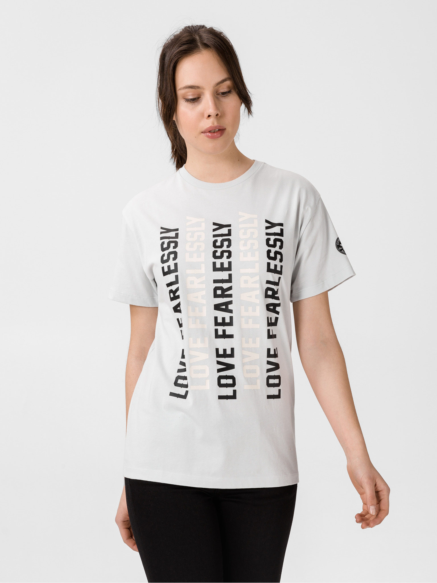 Converse szary damska koszulka Womens Love The Progress 2.0