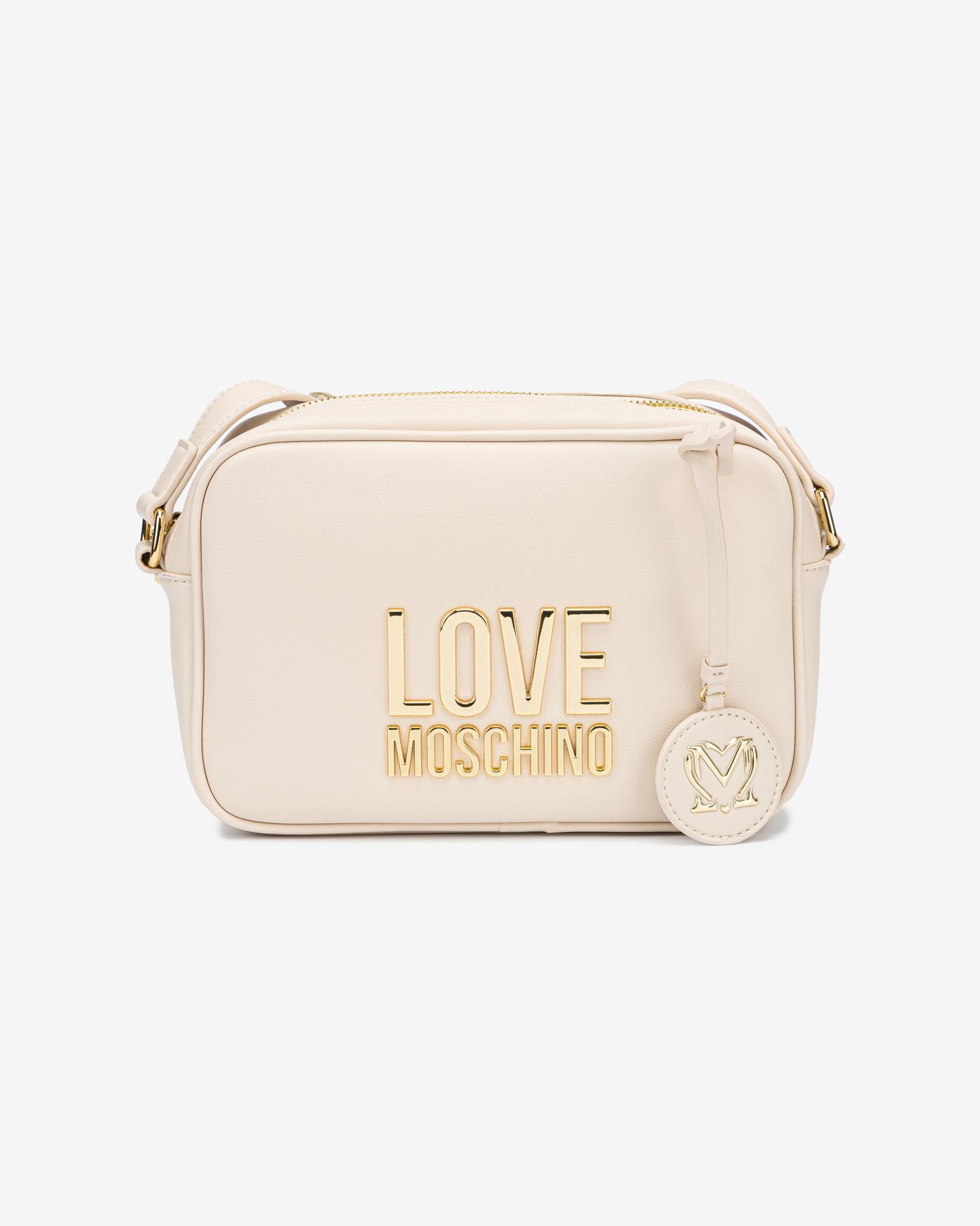 Love Moschino biały crossbody torebka