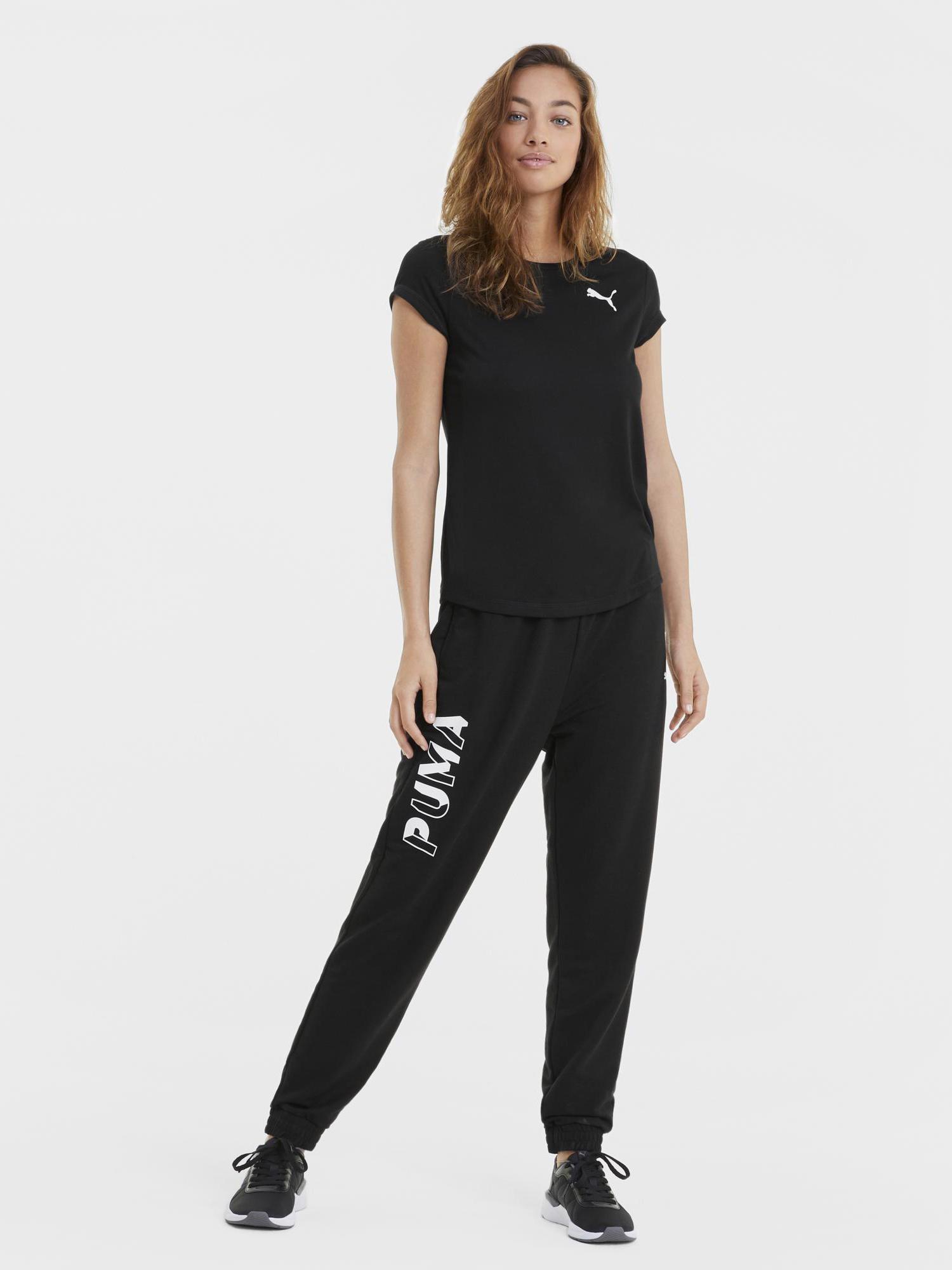 Puma czarny damska koszulka Active