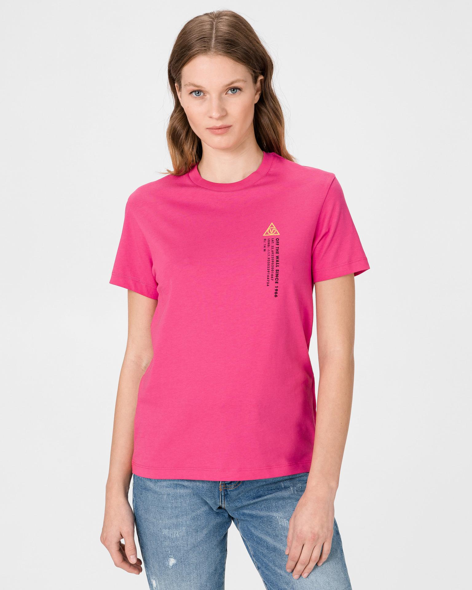 Vans różowy koszulka 66 Supply