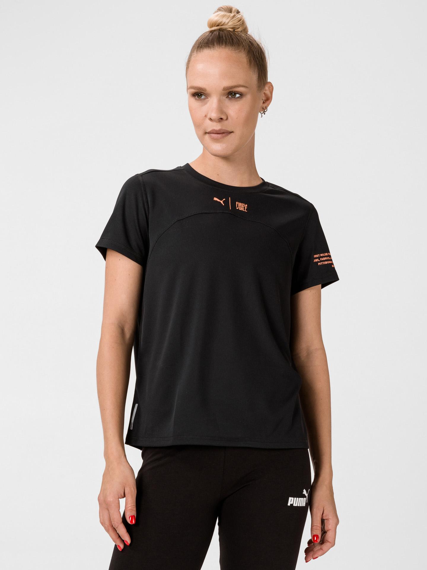 Puma czarny damska koszulka The First Mile