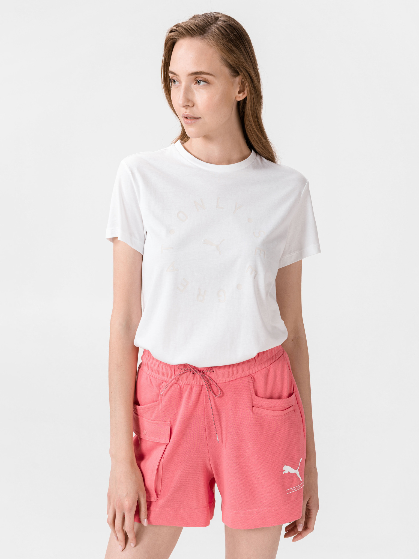 Puma biały damska koszulka