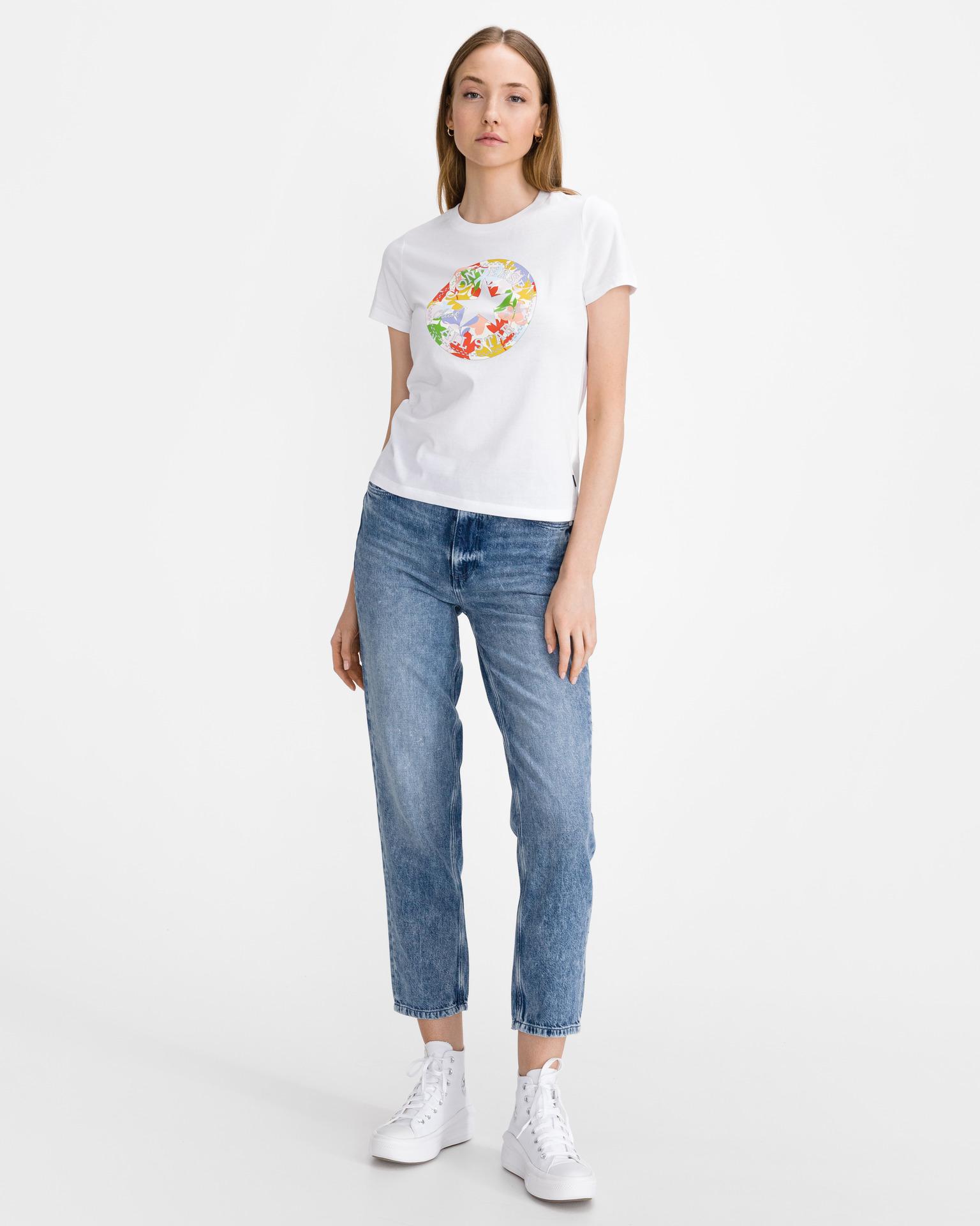 Converse biały koszulka Flower Vibes Chuck Patch