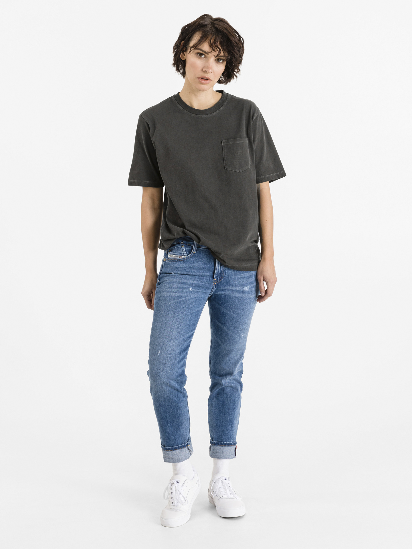 Vans szary koszulka Pocket V
