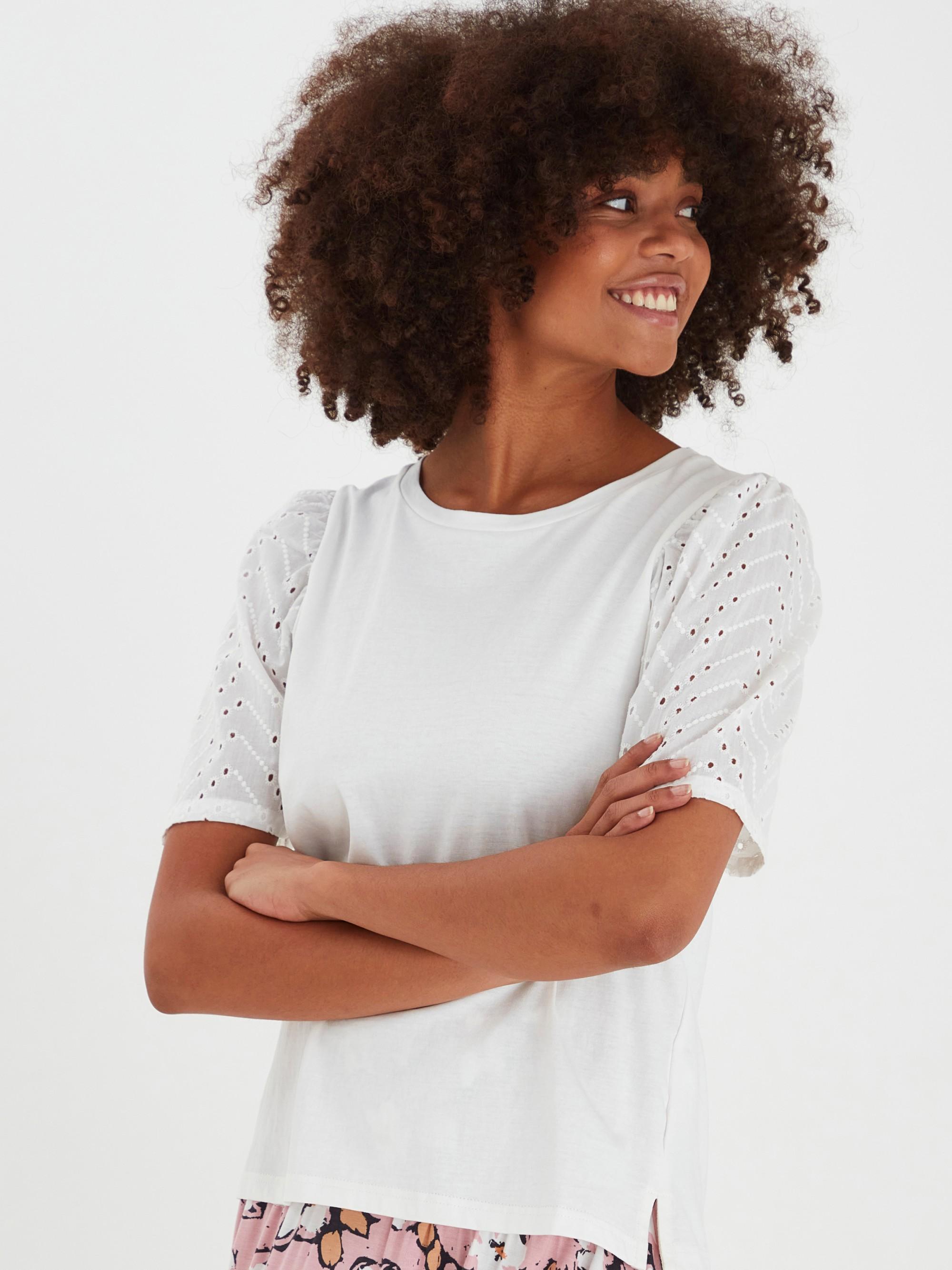 Ichi biały damska koszulka Jasmira
