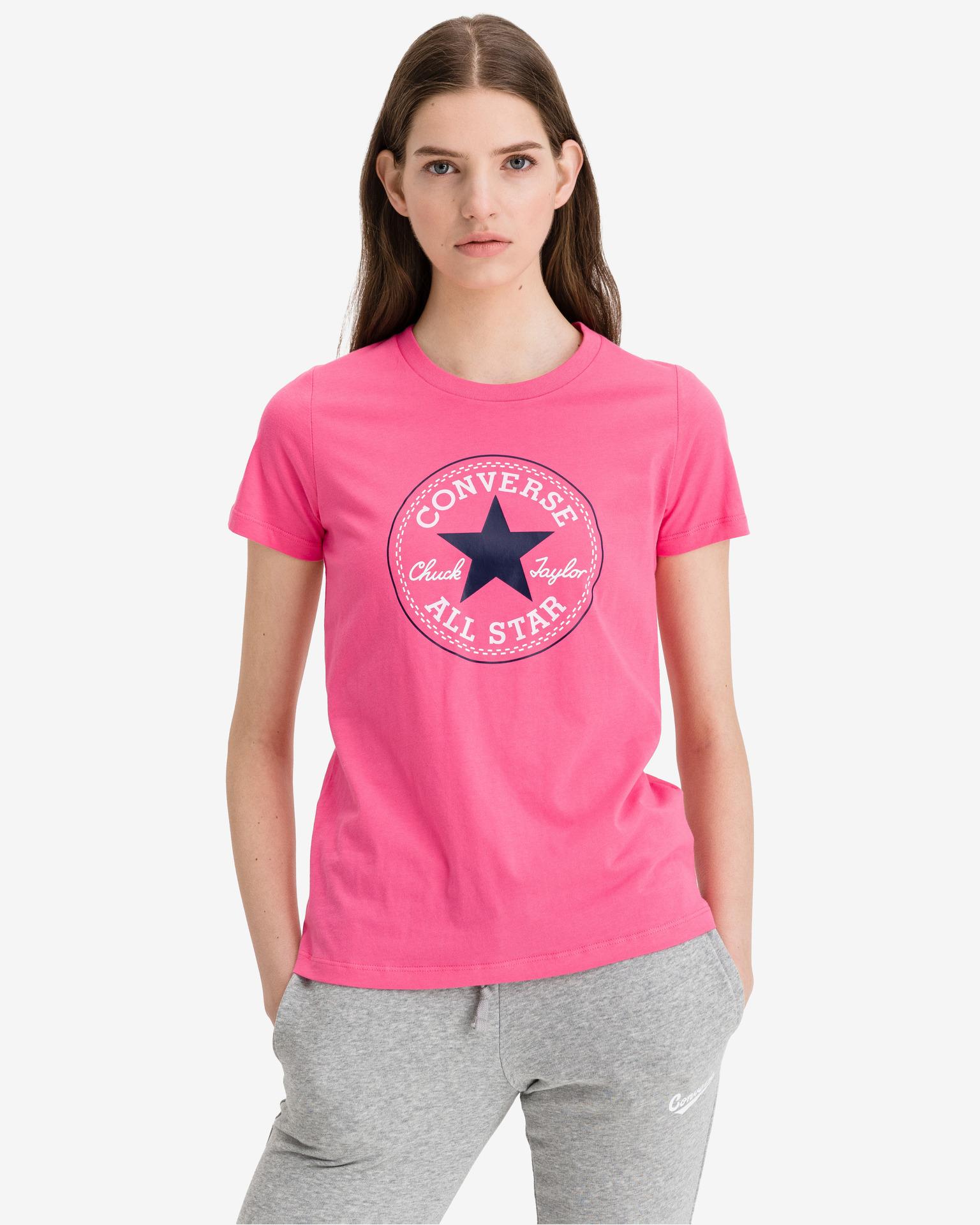 Converse różowy damska koszulka Chuck Patch Nova